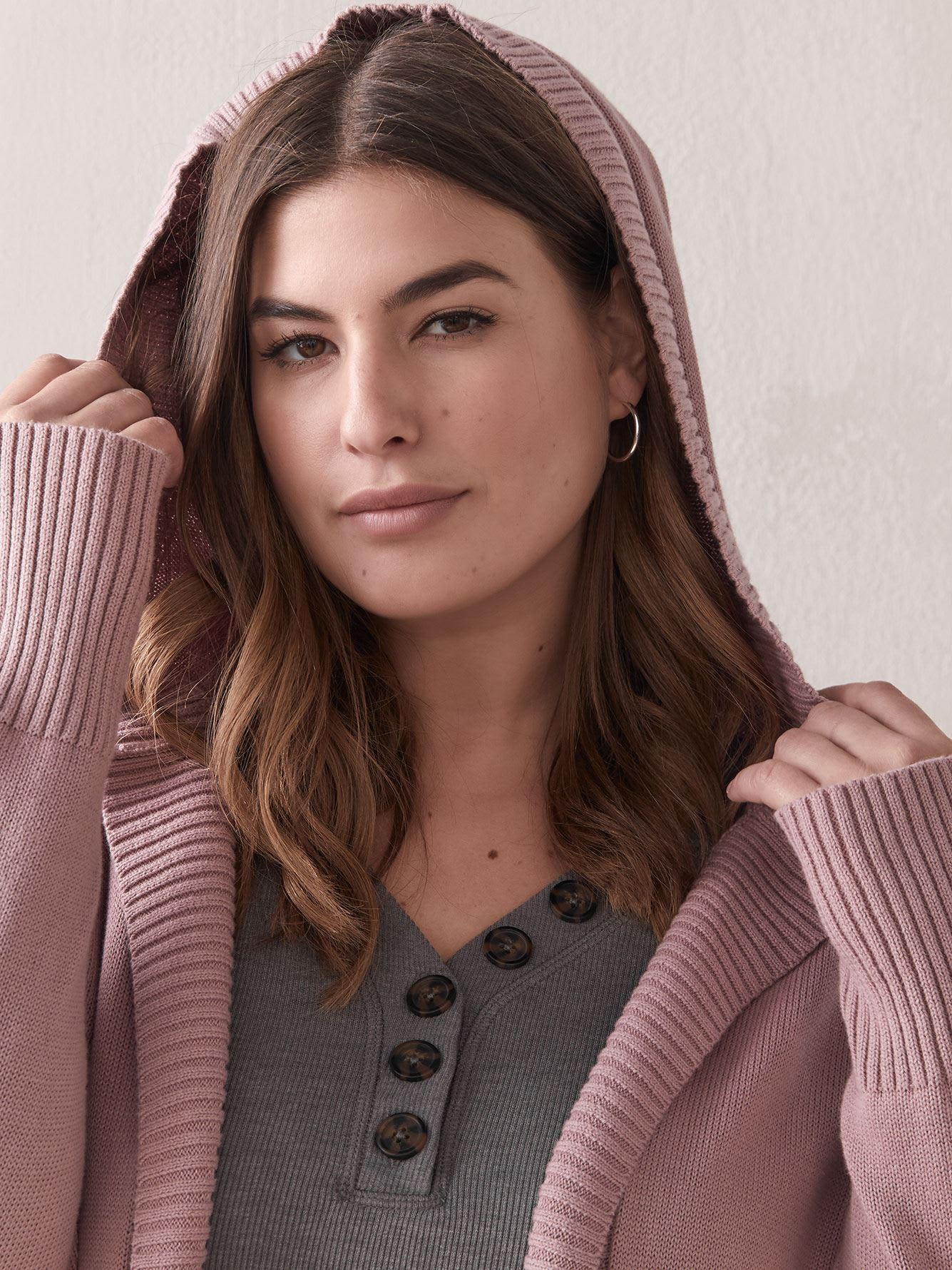 Hooded Open Cardigan - In Every Story