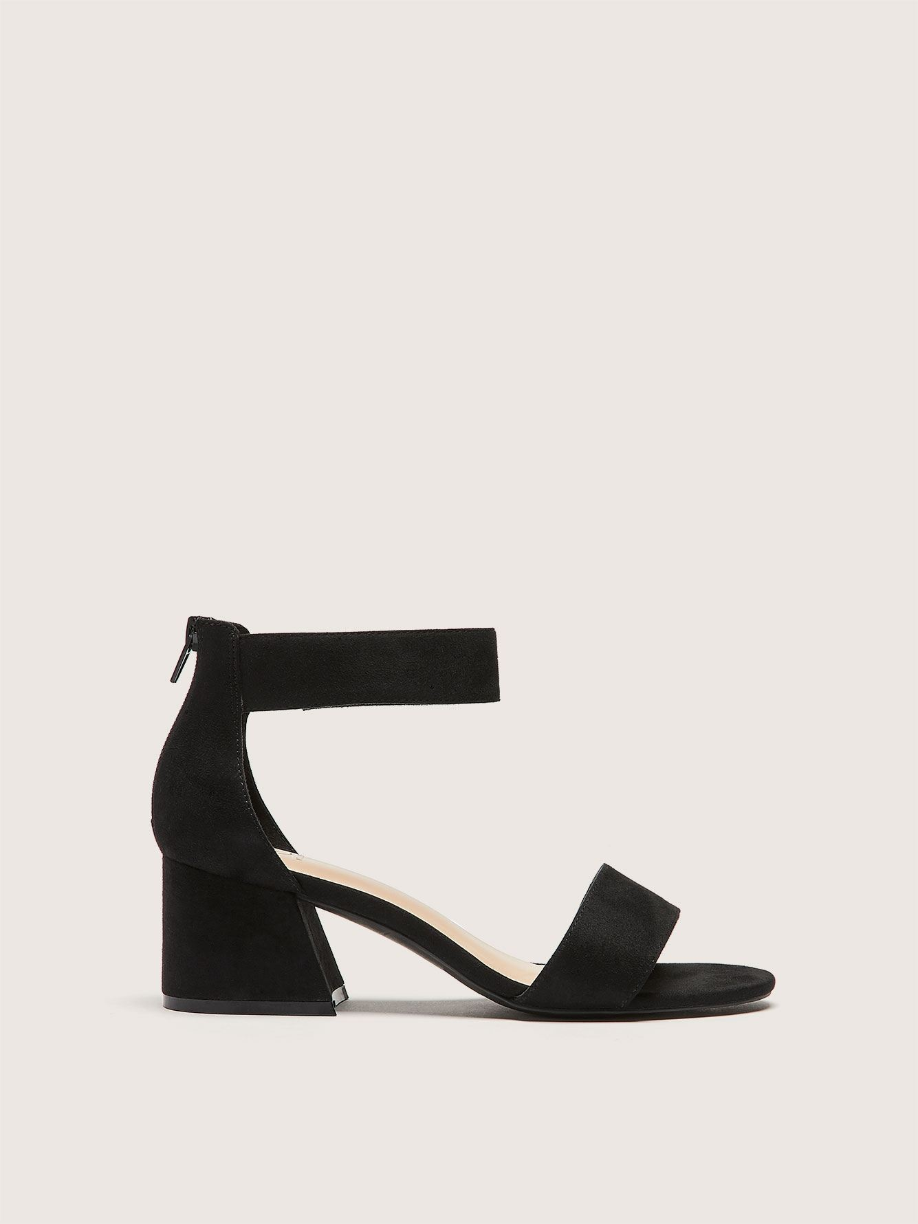 Wide Block Heel Ankle Strap Sandal - Addition Elle