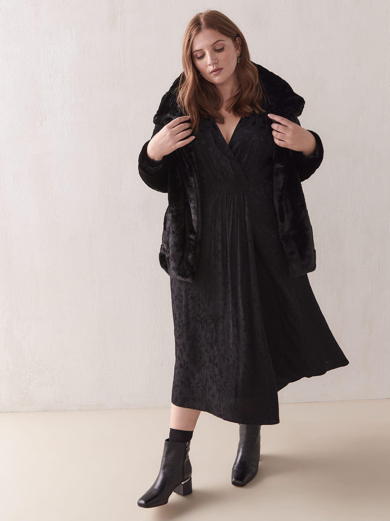 Short Faux Fur Jacket - Addition Elle