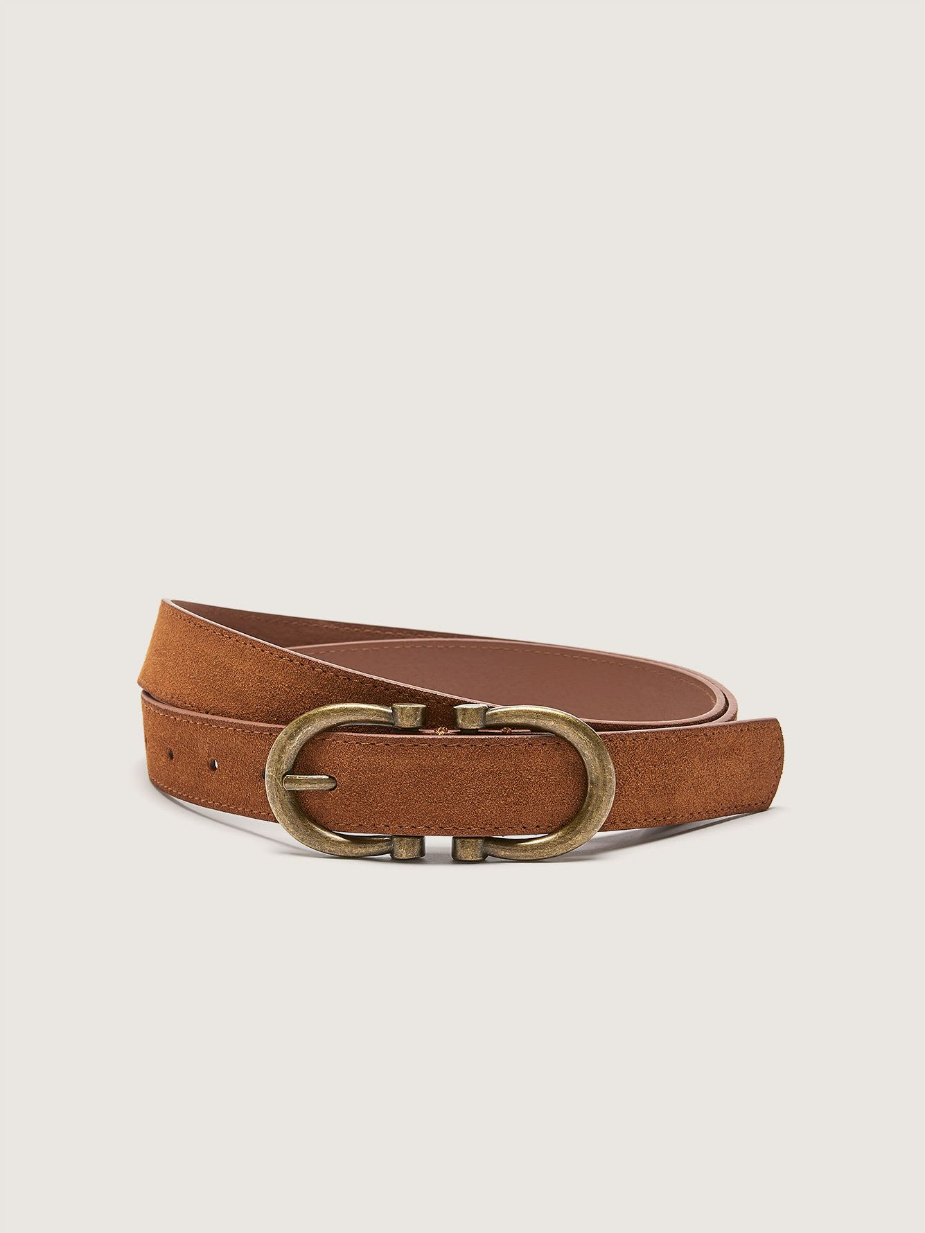 Suede Belt with Double Buckle - Addition Elle