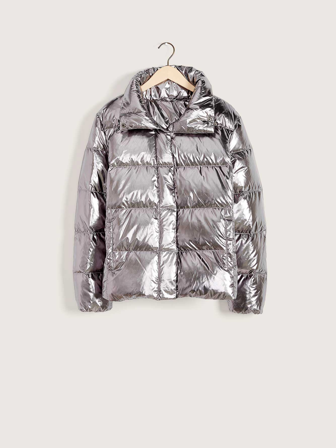 Metallic Down Puffer Jacket - Addition Elle