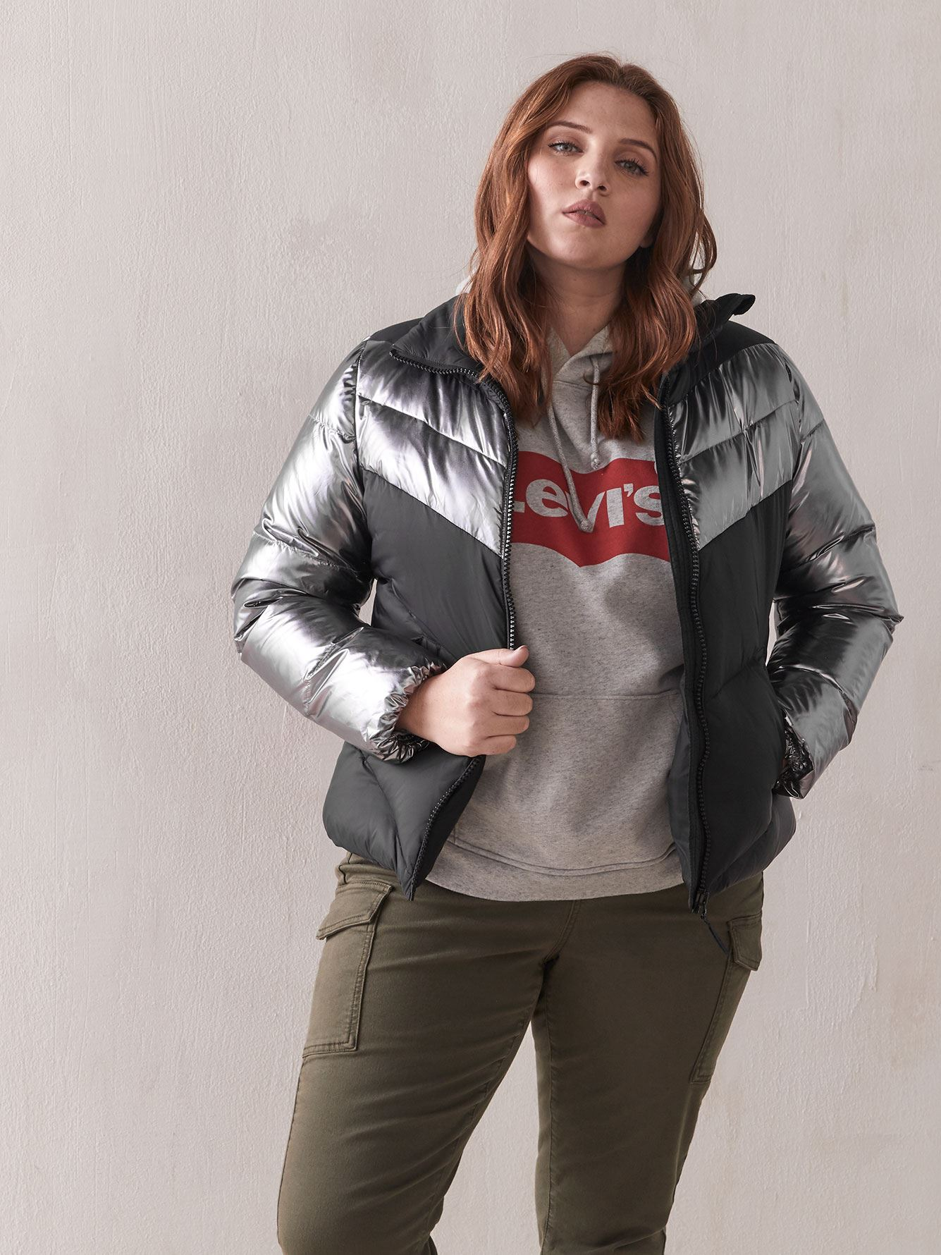 Manteau bicolore en duvet - Addition Elle