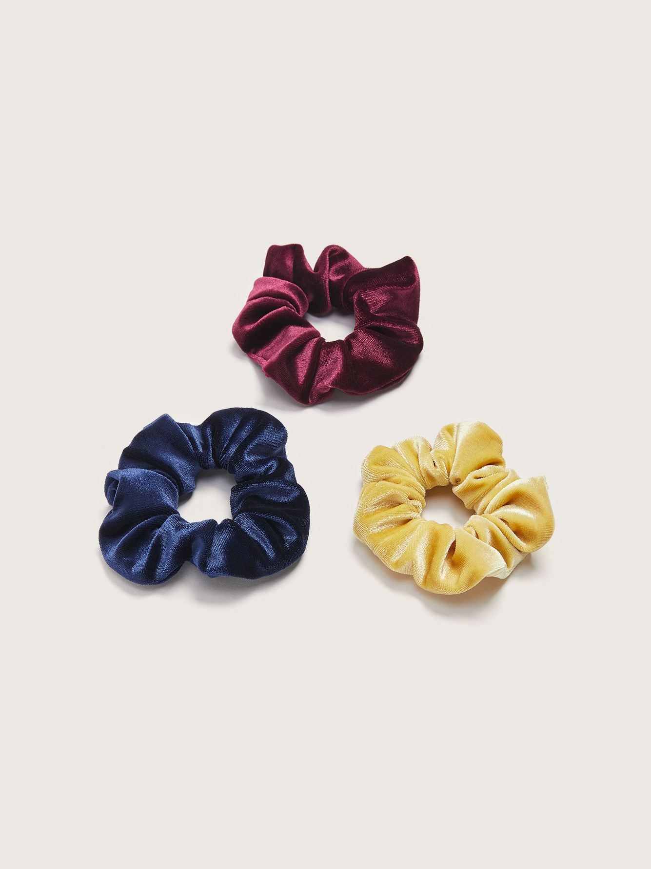 Pack of 3 Velvet Scrunchies - Addition Elle