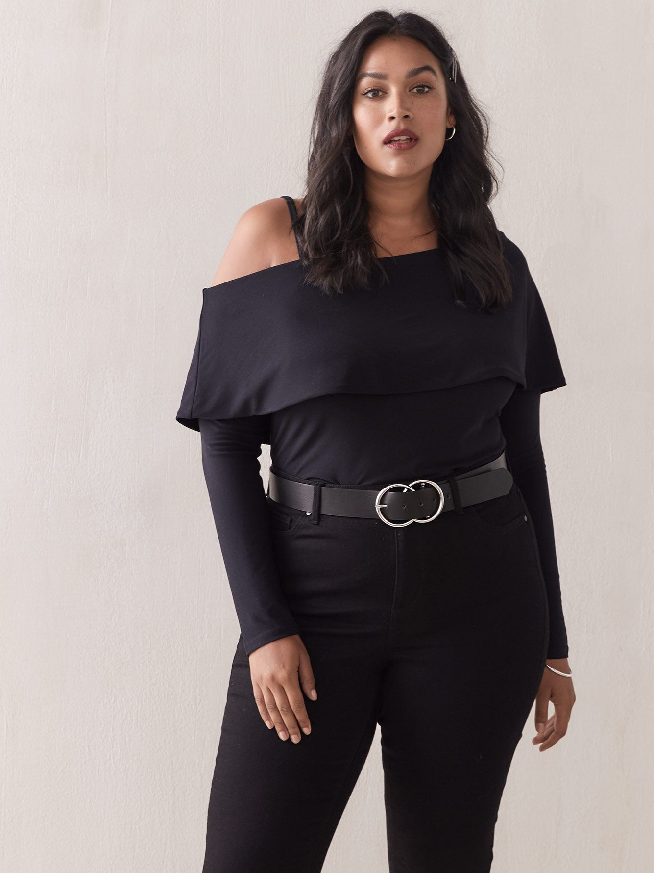 One-Shoulder Bardot Top - Addition Elle