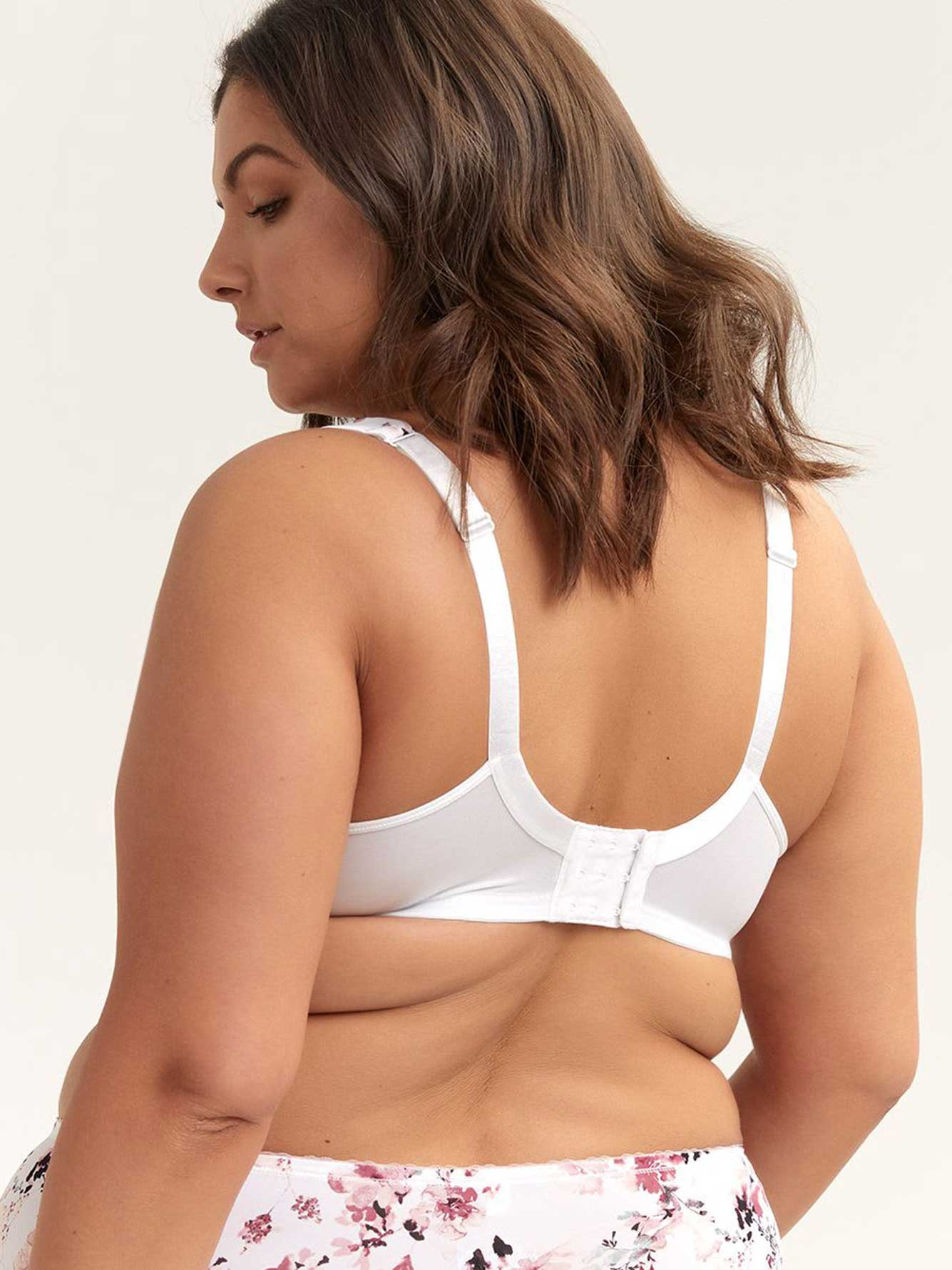 Printed Padded T-Shirt Bra with Lace, G & H Cups - ti Voglio
