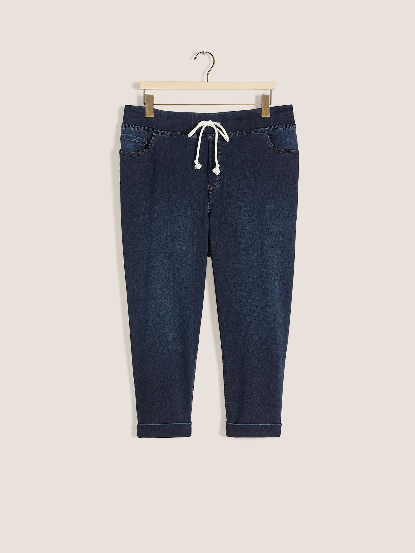 Knit Denim Capri Jogger - In Every Story