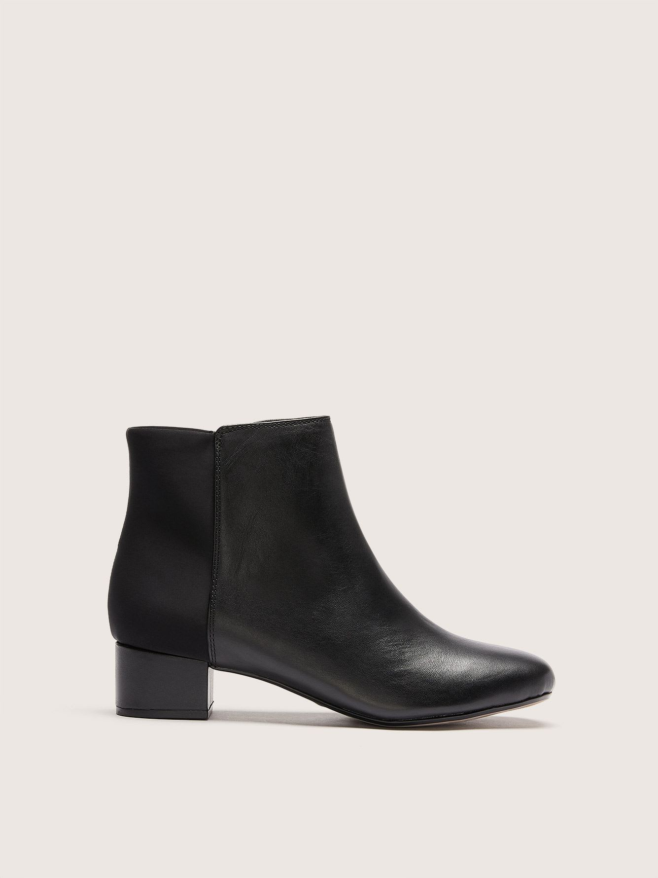 Clarks - Wide Leather Chartli Valley Booties with Side Zip