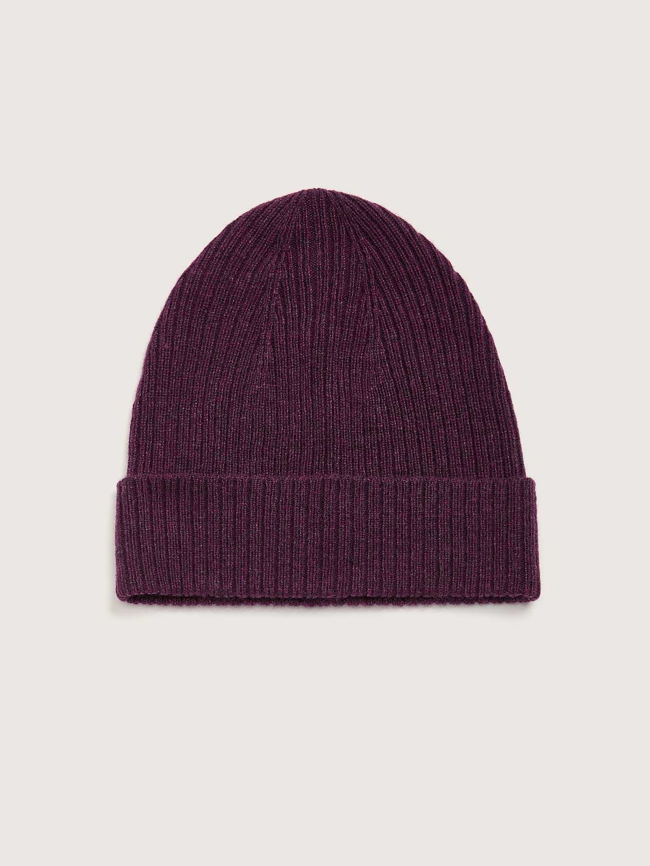 Rib Knit Cashmere Blend Beanie - Addition Elle