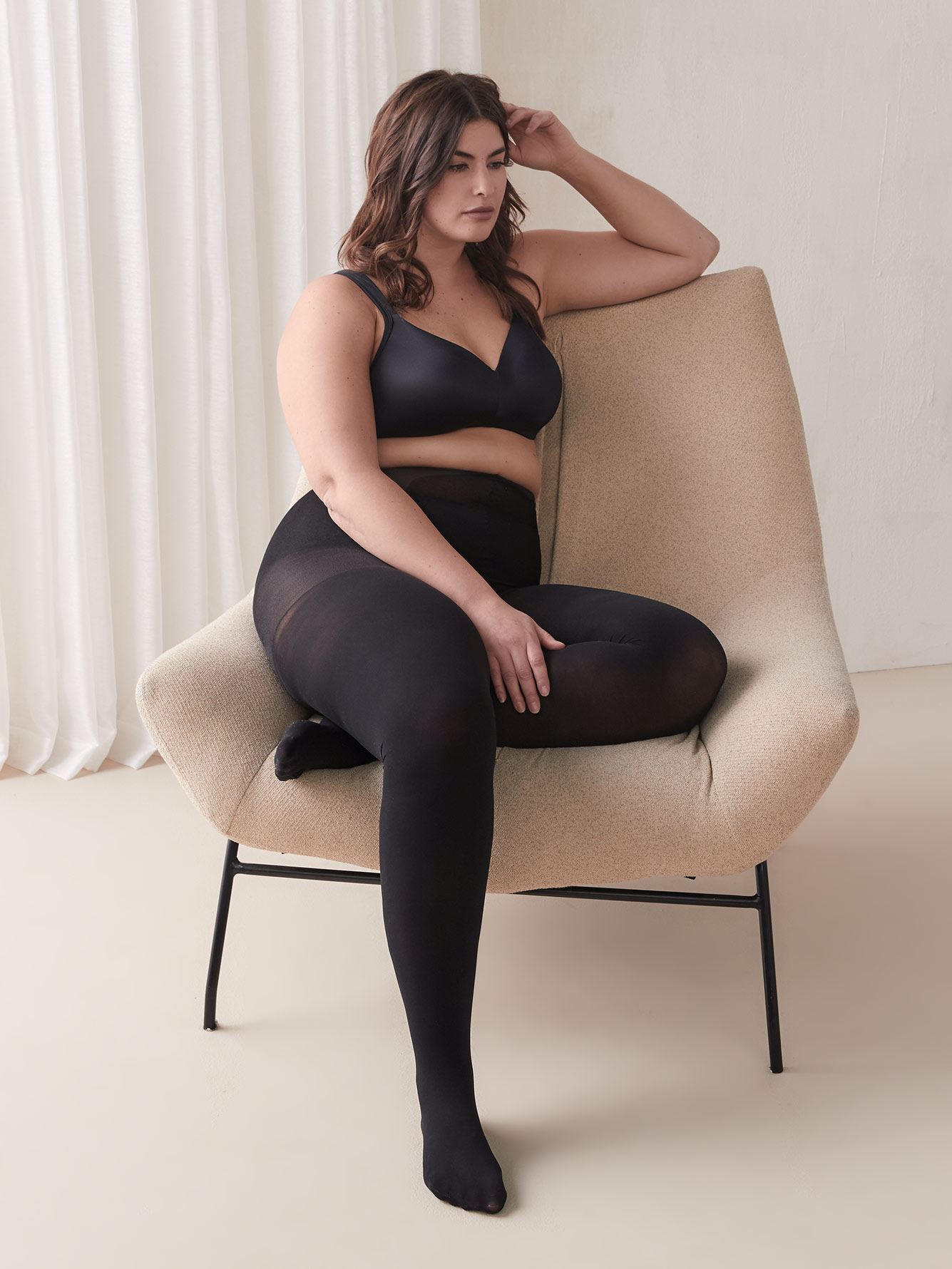 Basic 50D Control Top Tights - Addition Elle