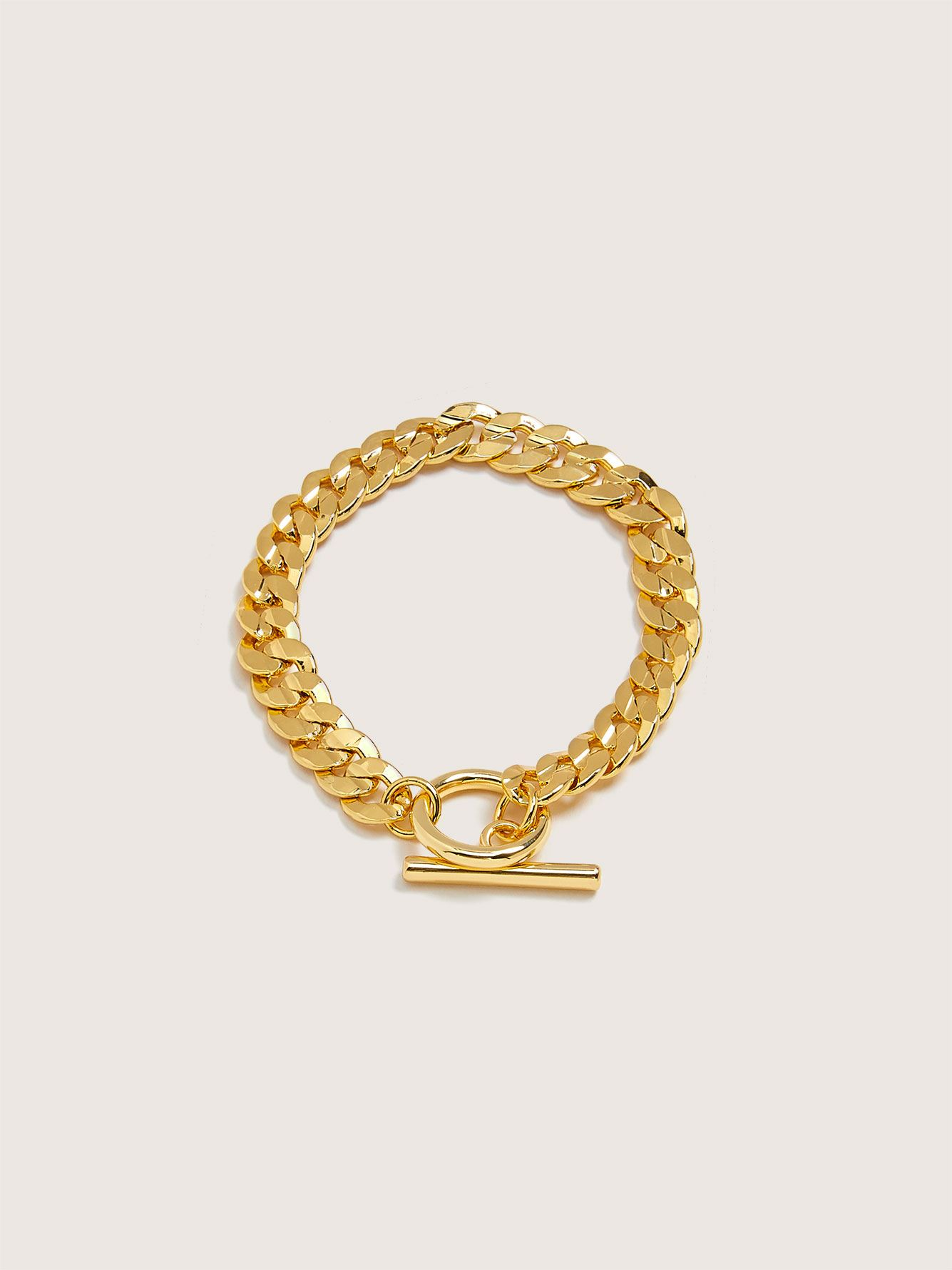 Plated Chain Link Bracelet - Addition Elle