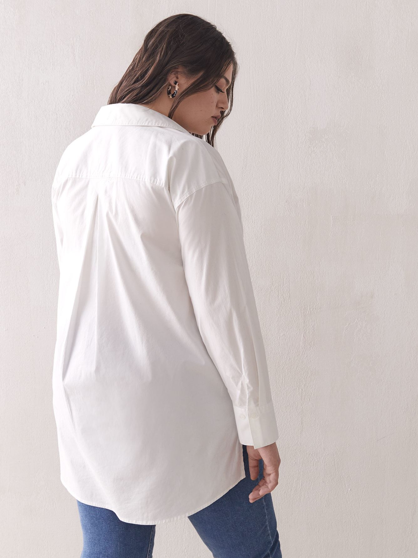 Oversized Tunic Shirt Blouse - Addition Elle