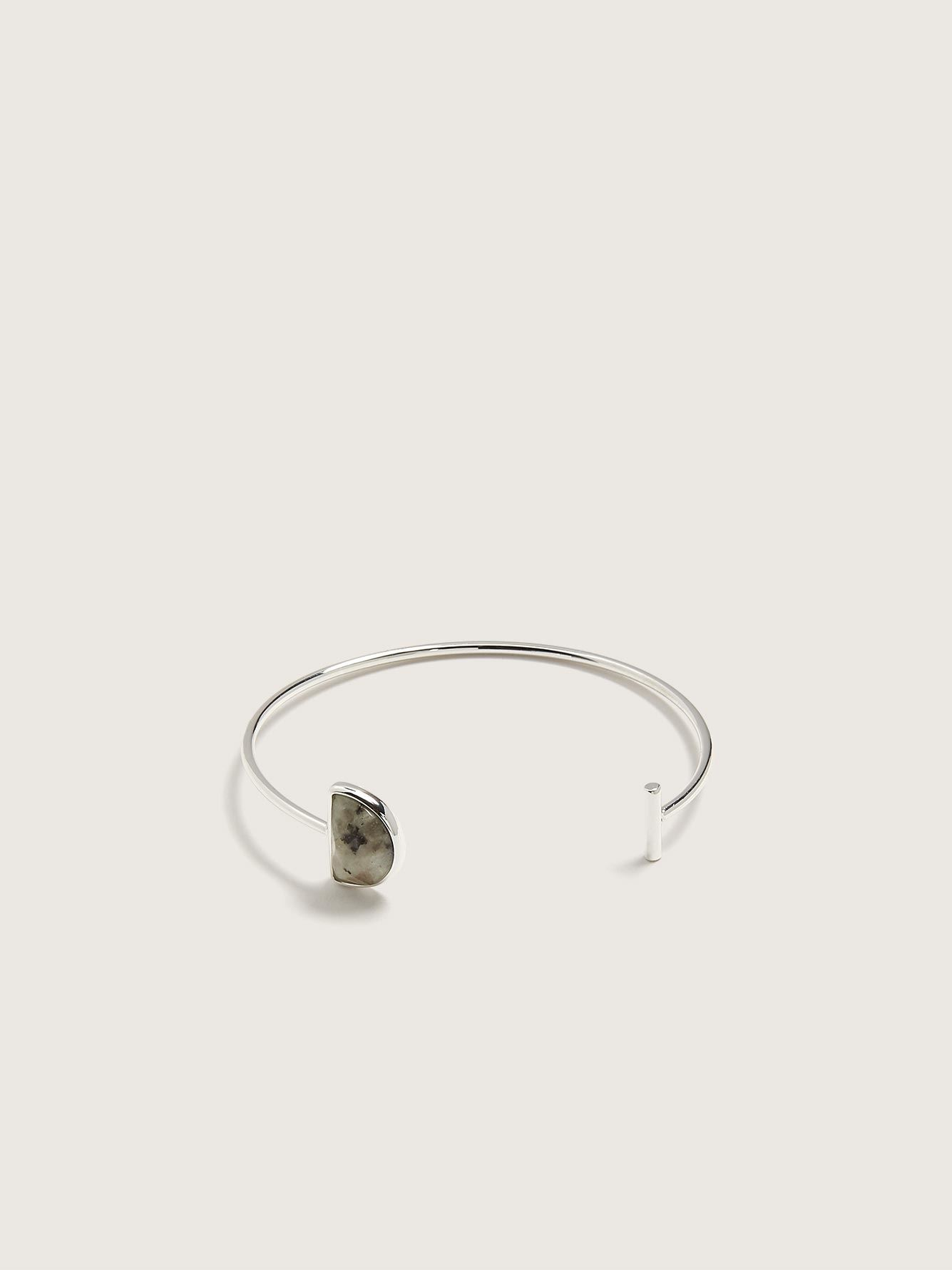Cuff Bracelet with Semi-Precious Stone - Addition Elle