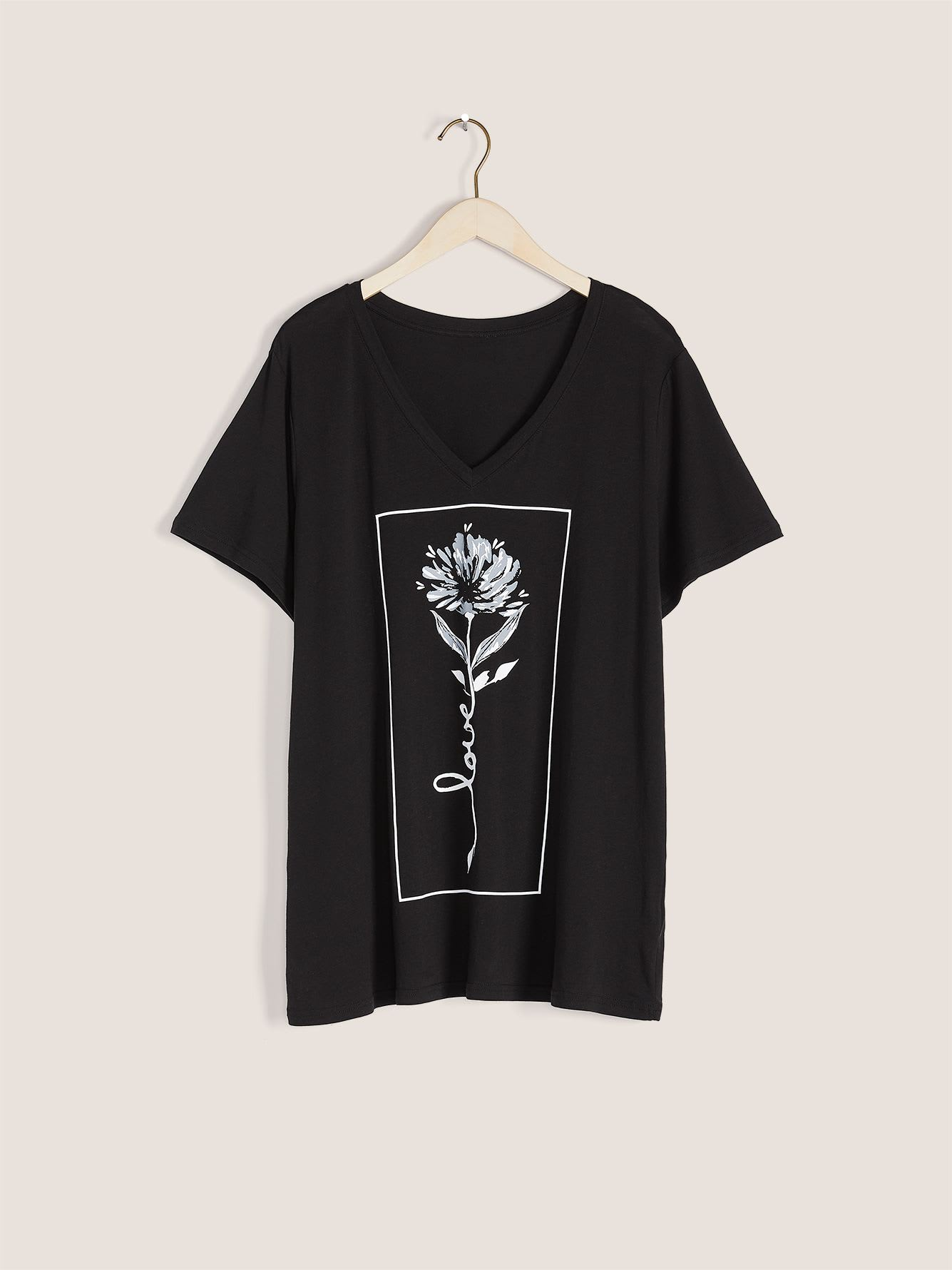 Graphic V-Neck T-Shirt - In Every Story