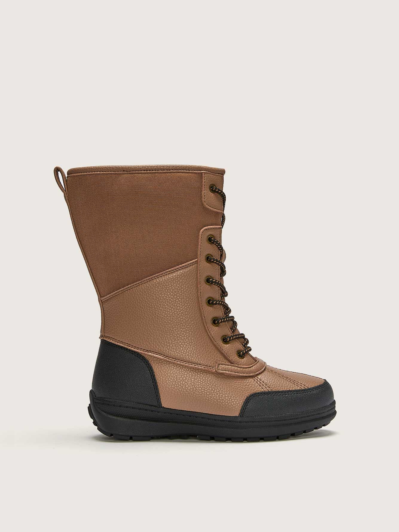 Wide Lace-Up Waterproof Winter Boot - Addition Elle