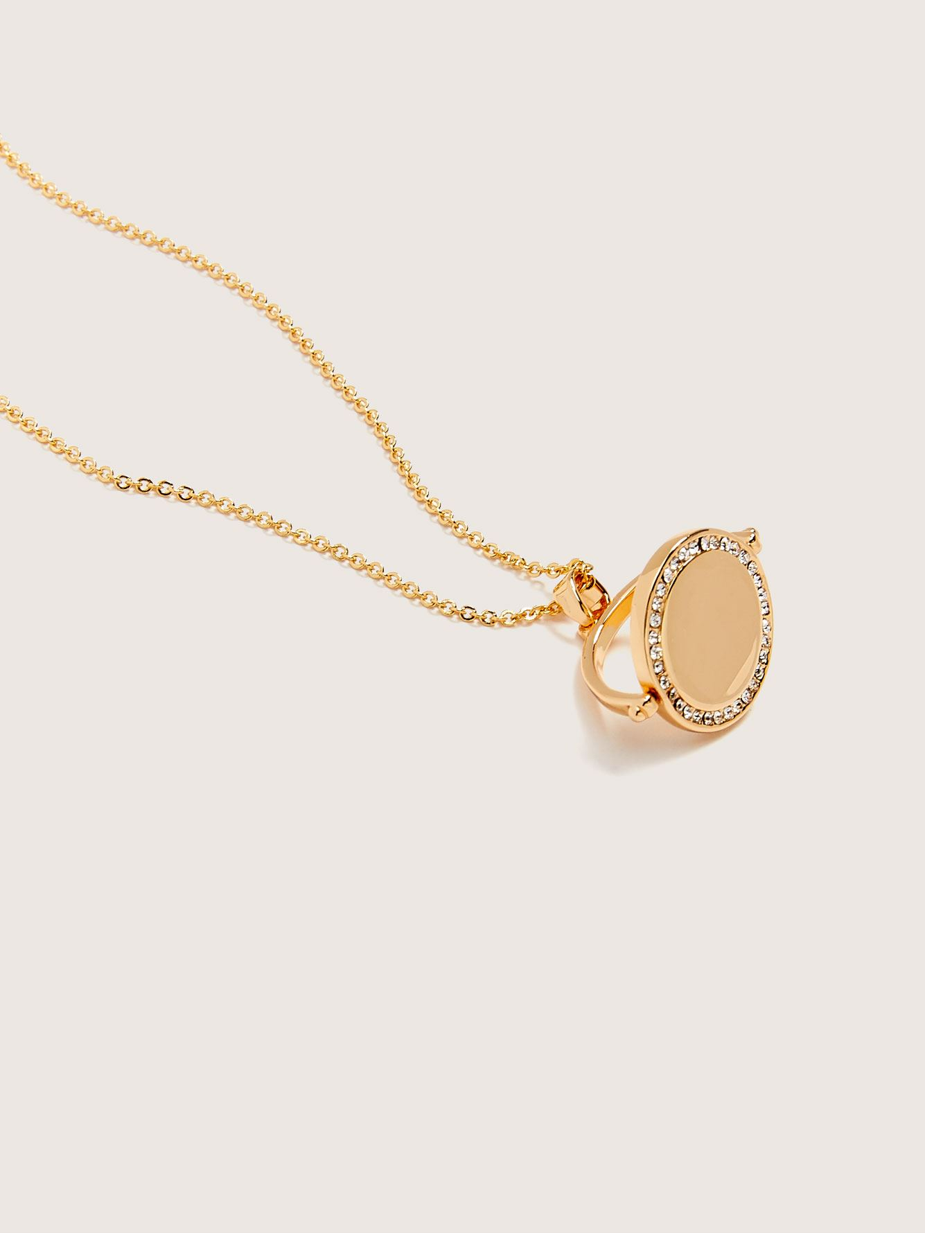 14K Gold Plated Necklace with Charm - Addition Elle