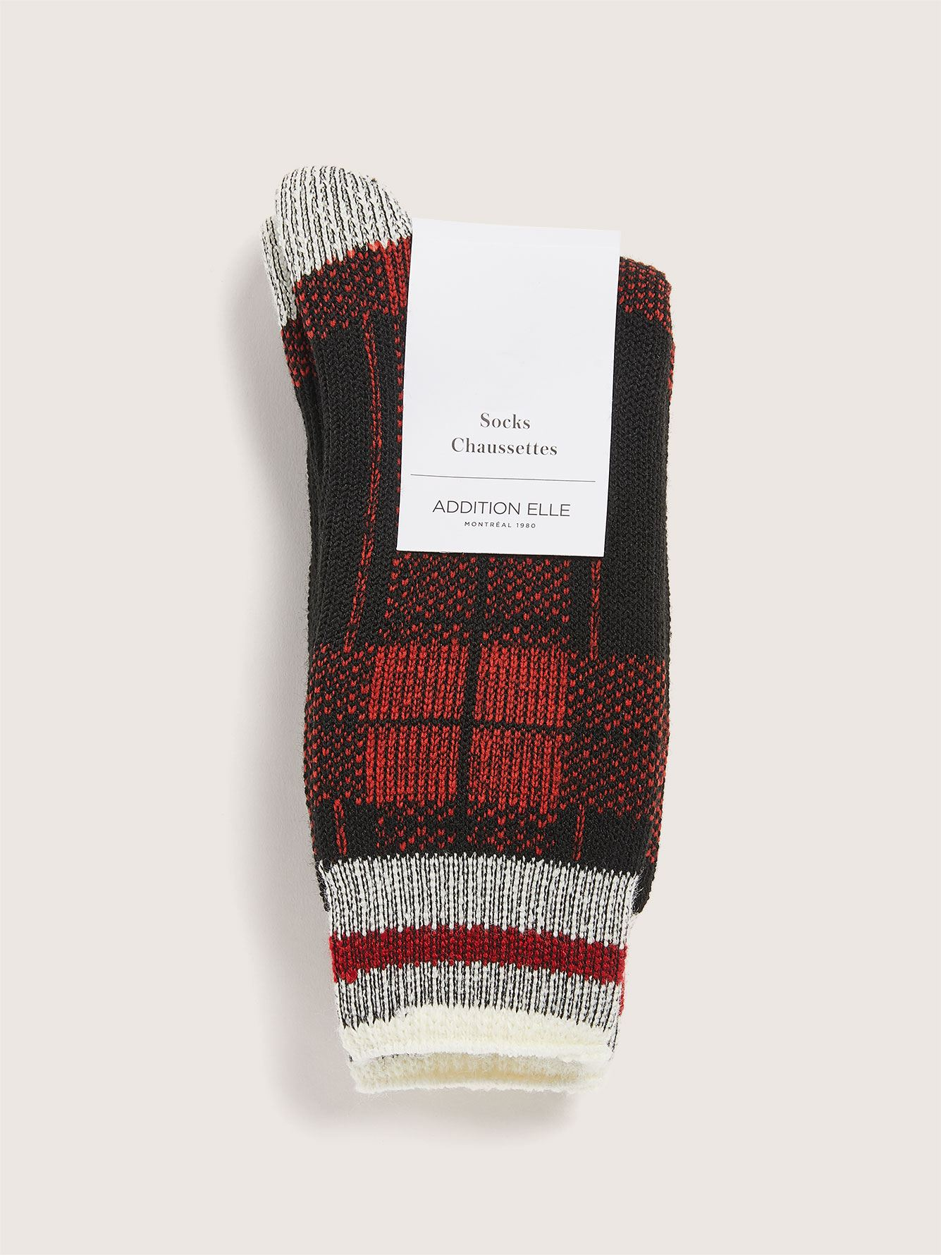 Plaid Cozy Socks - Addition Elle