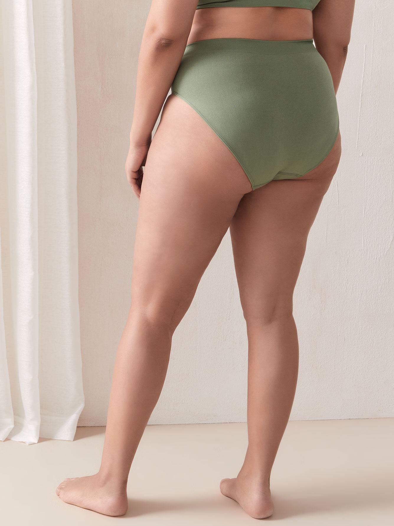 Chevron Seamless High Cut Panty - Addition Elle