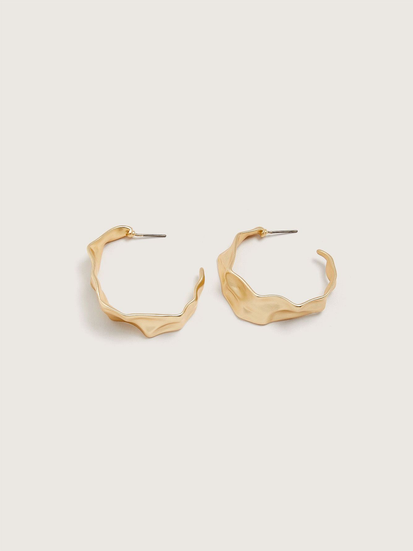 Hammered Hoops Earrings - Addition Elle