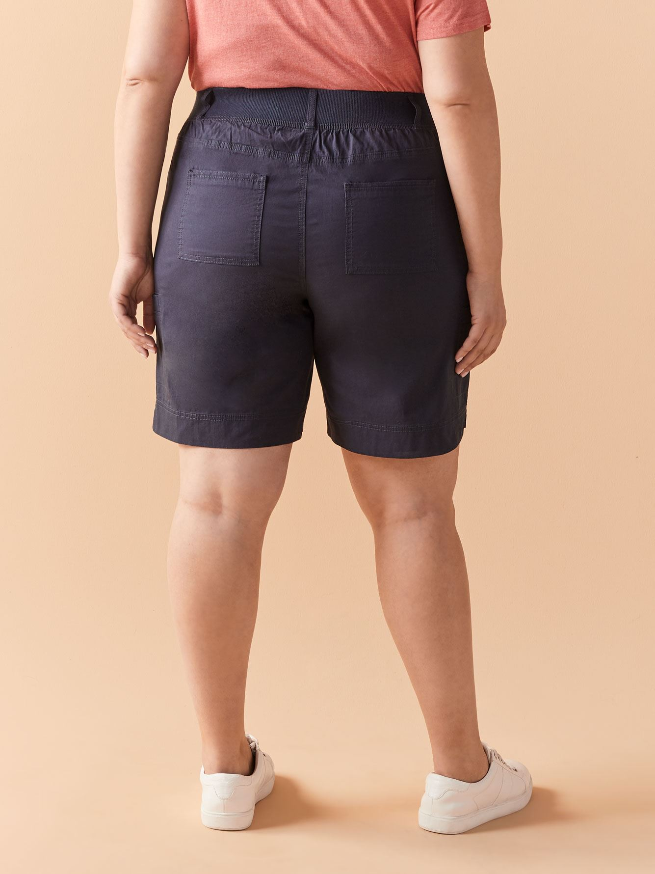 Solid Cargo Bermuda Shorts - In Every Story