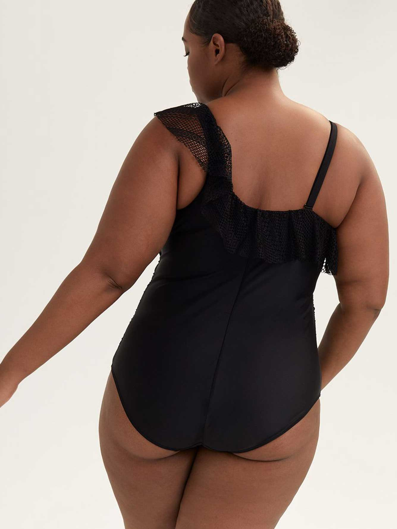 One-Shoulder One-Piece Swimsuit - Sea