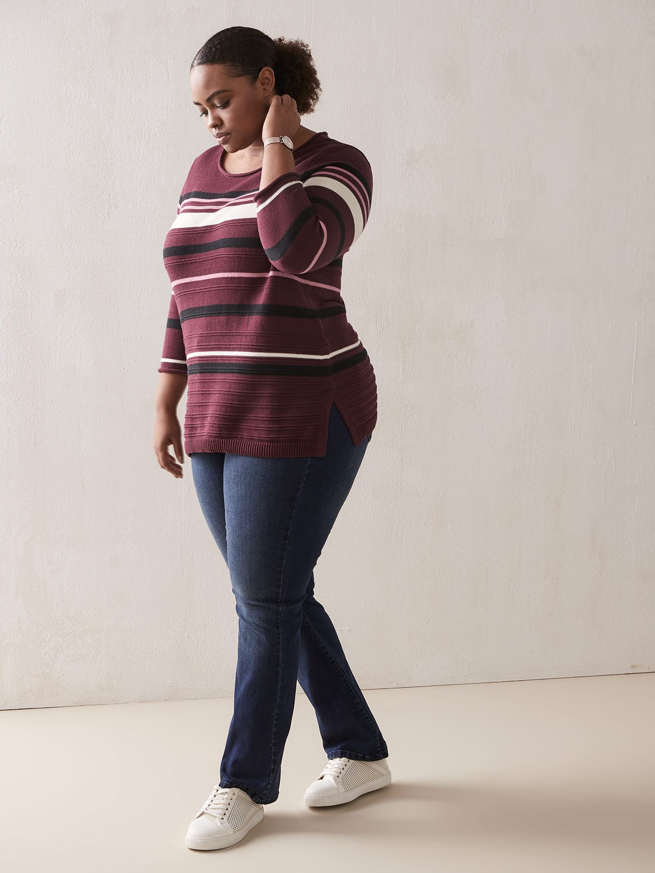 Striped Cotton Sweater - In Every Story