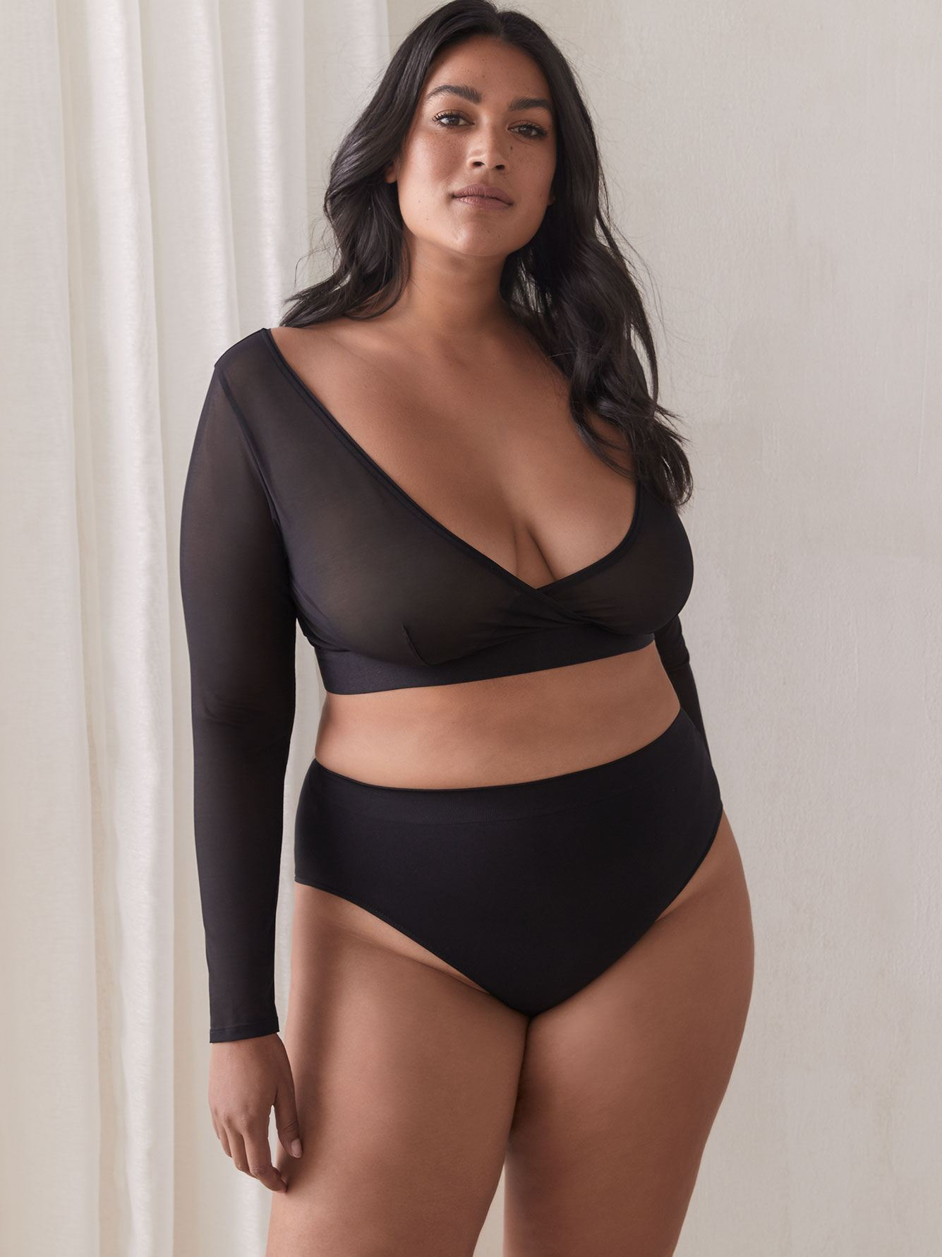 Short Mesh Control Bolero - Addition Elle