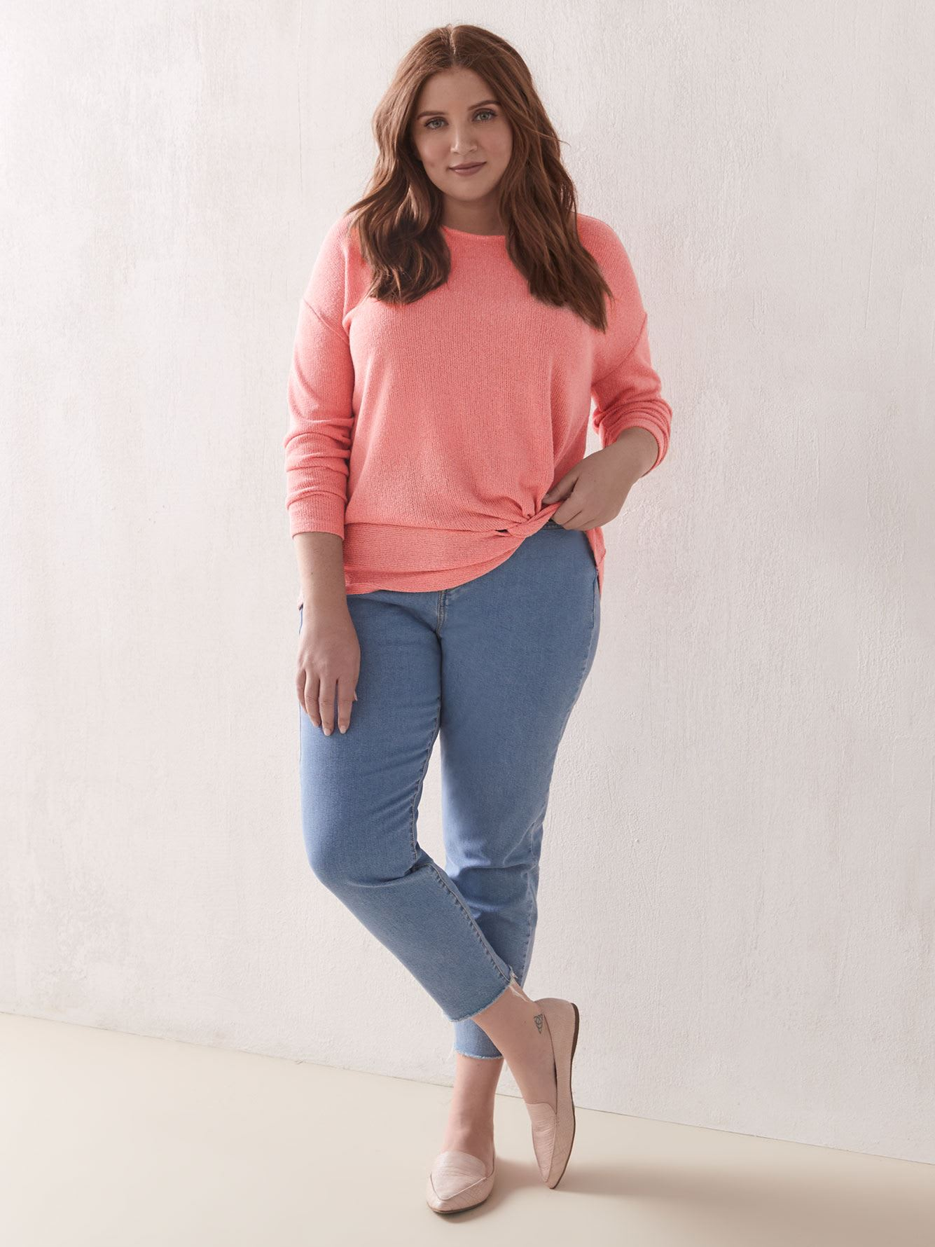 3/4 Sleeve Knot Top - Addition Elle