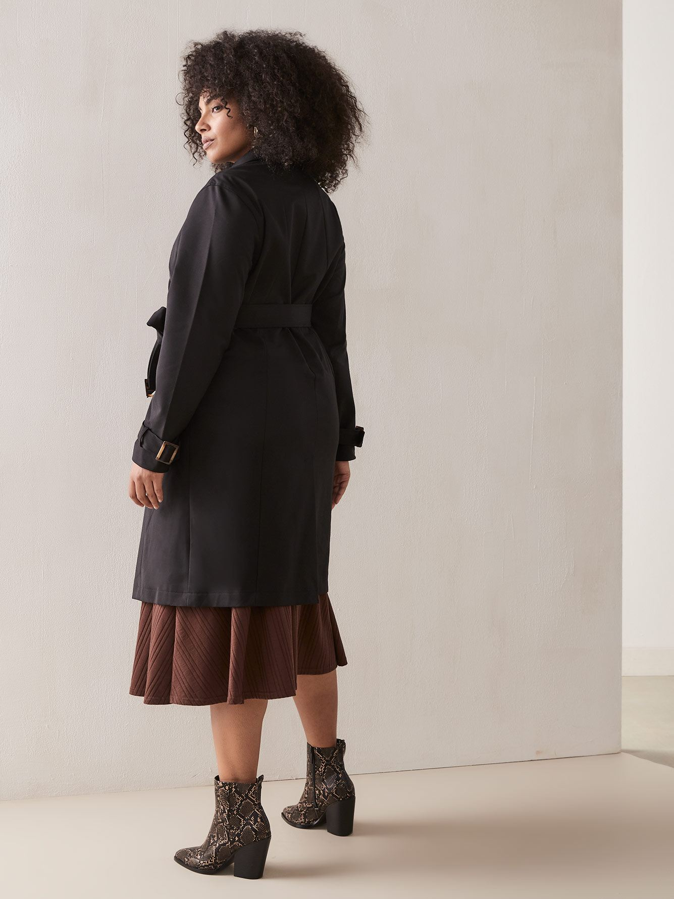 Manteau trench noir