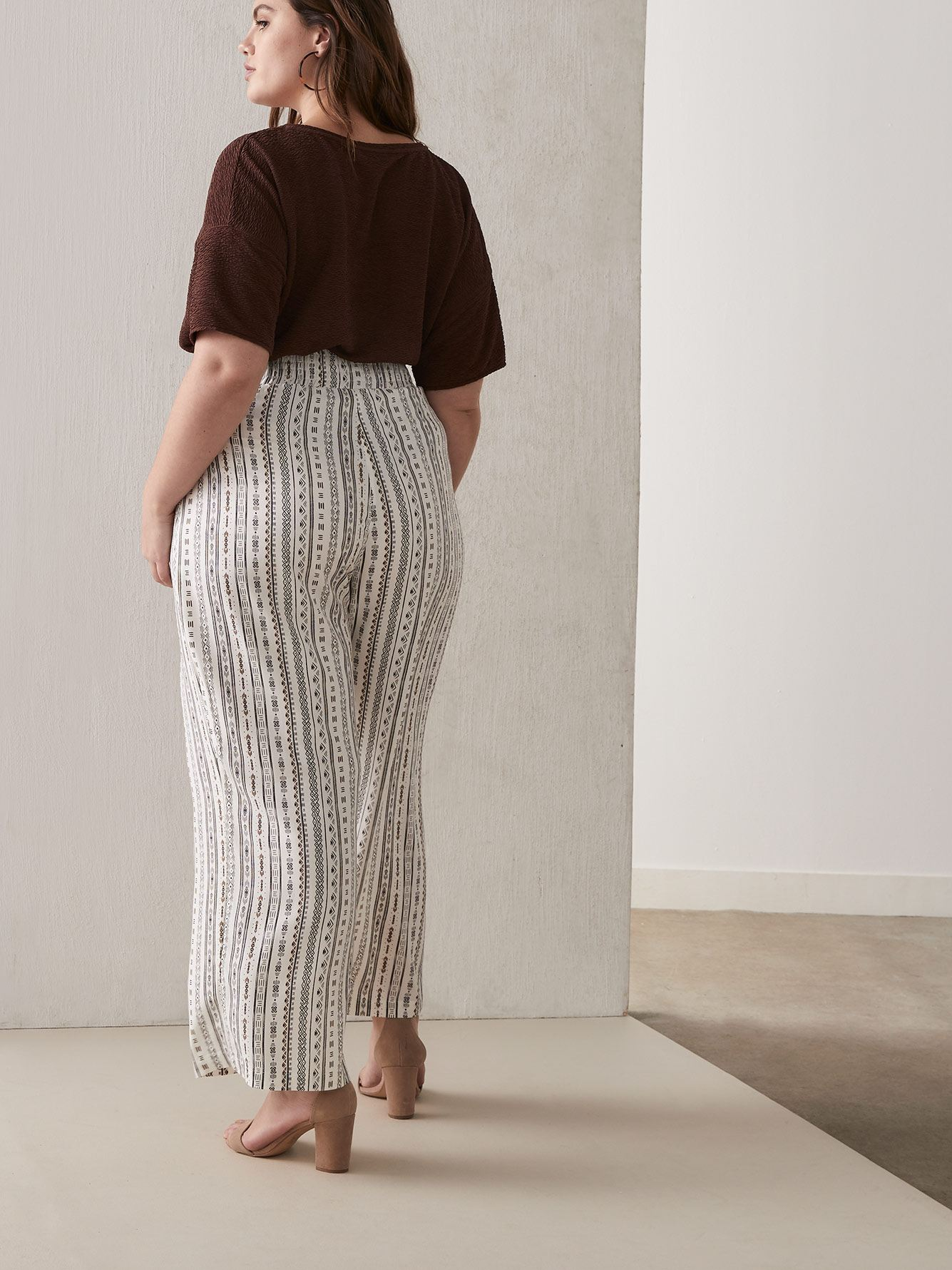 Challis Pull-On Wide Leg Pant