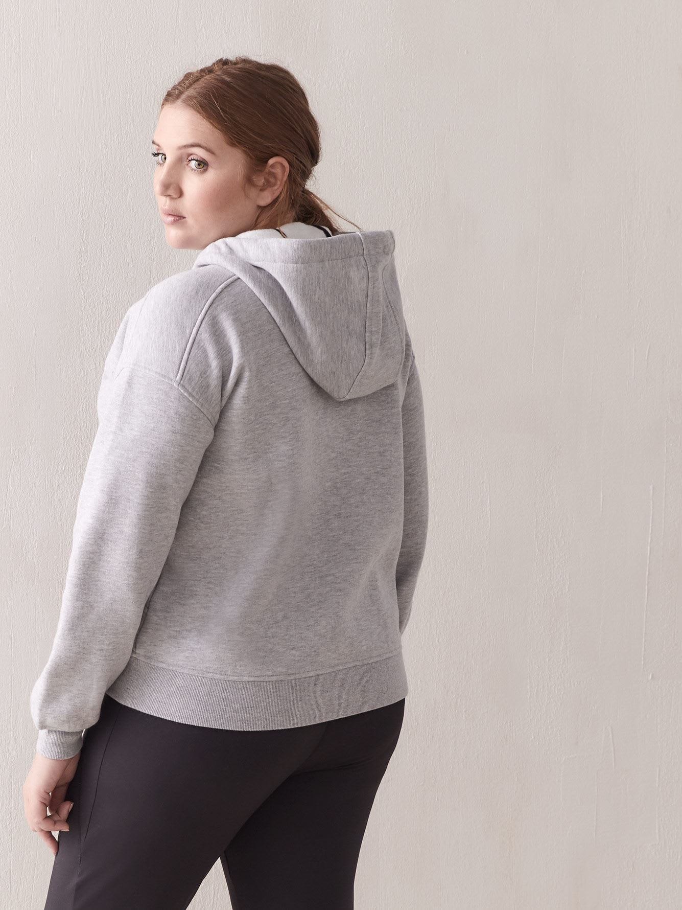 Oversized Fleece Zip-Up Hoodie - ActiveZone