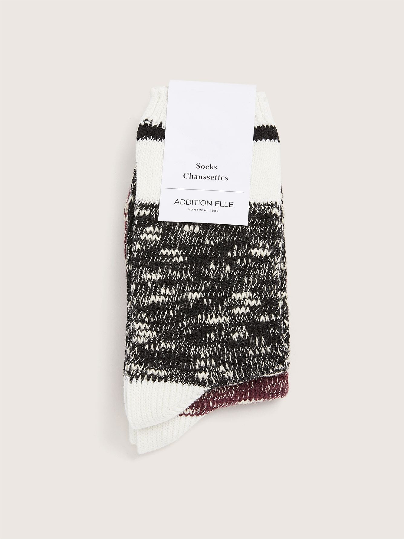 2 Pairs of Knit Work Socks - Addition Elle