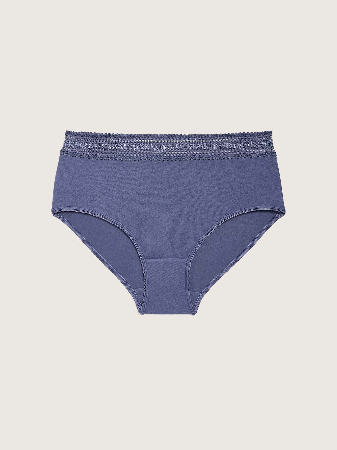 Solid Cotton Brief Panty - Déesse Collection