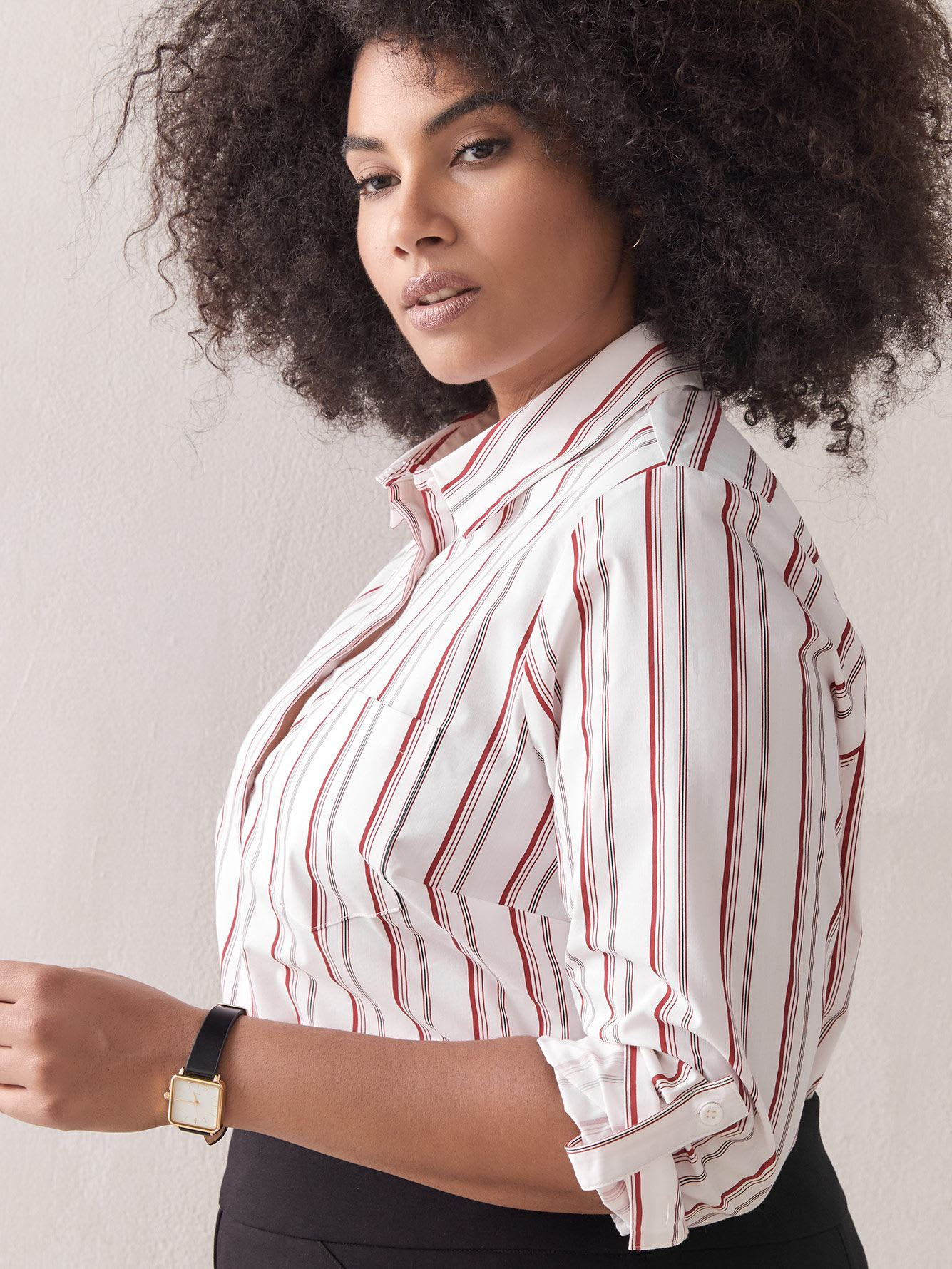 Long Sleeve Striped Blouse - In Every Story