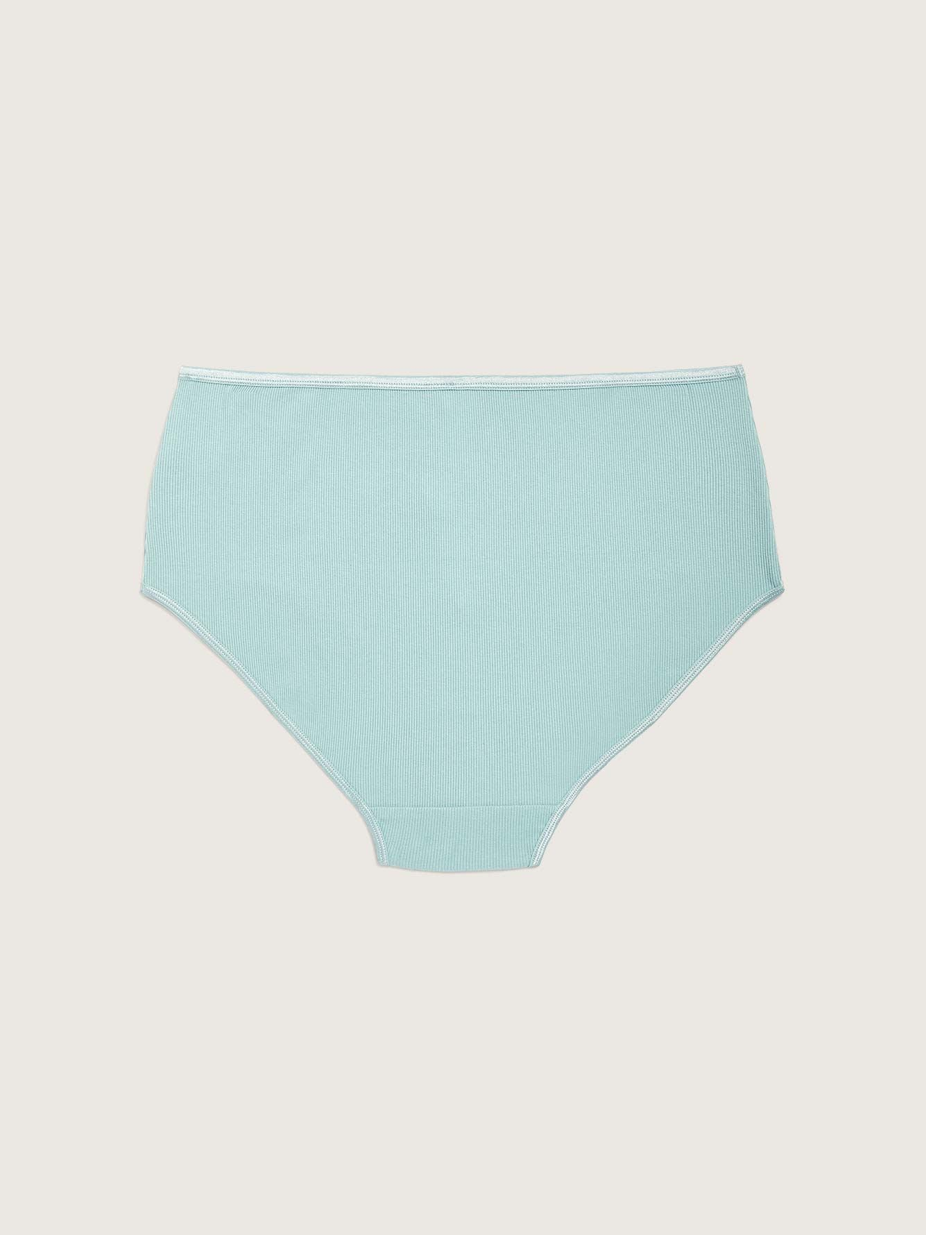 Ribbed Cotton Brief Panty with Elastic - ti Voglio
