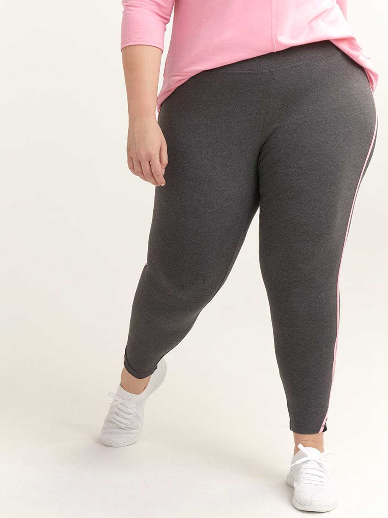 Petite Legging with Side Stripe & Keyhole Detail - ActiveZone