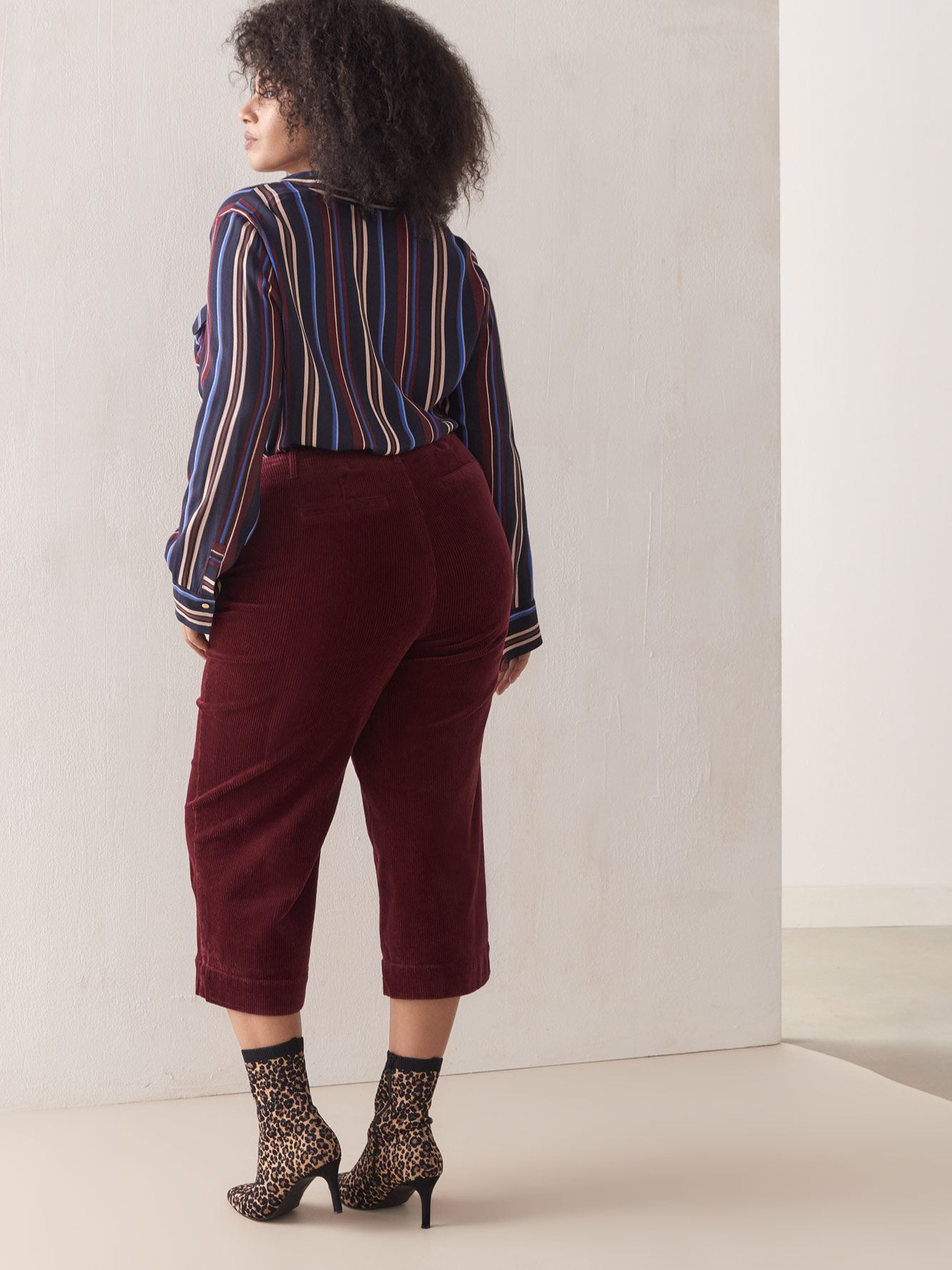Cropped Corduroy Pant - Addition Elle