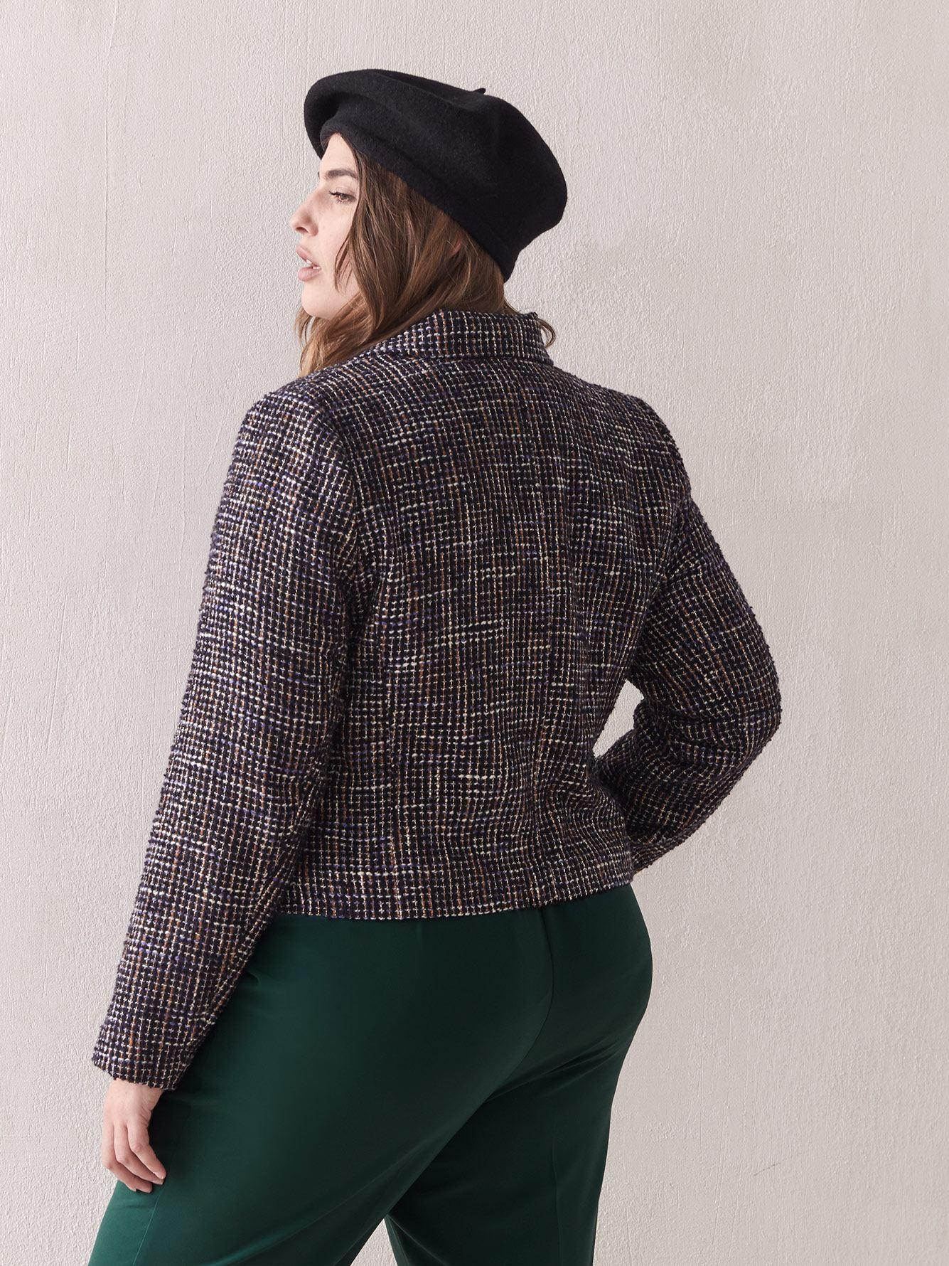 Veste moto en tweed bouclé - Addition Elle