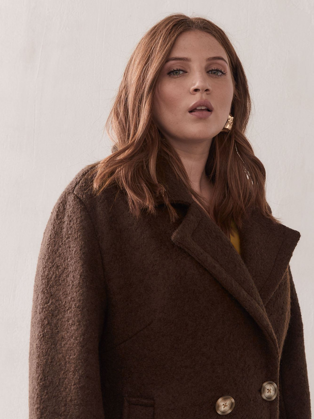 Double Breasted Wool Coat - Addition Elle