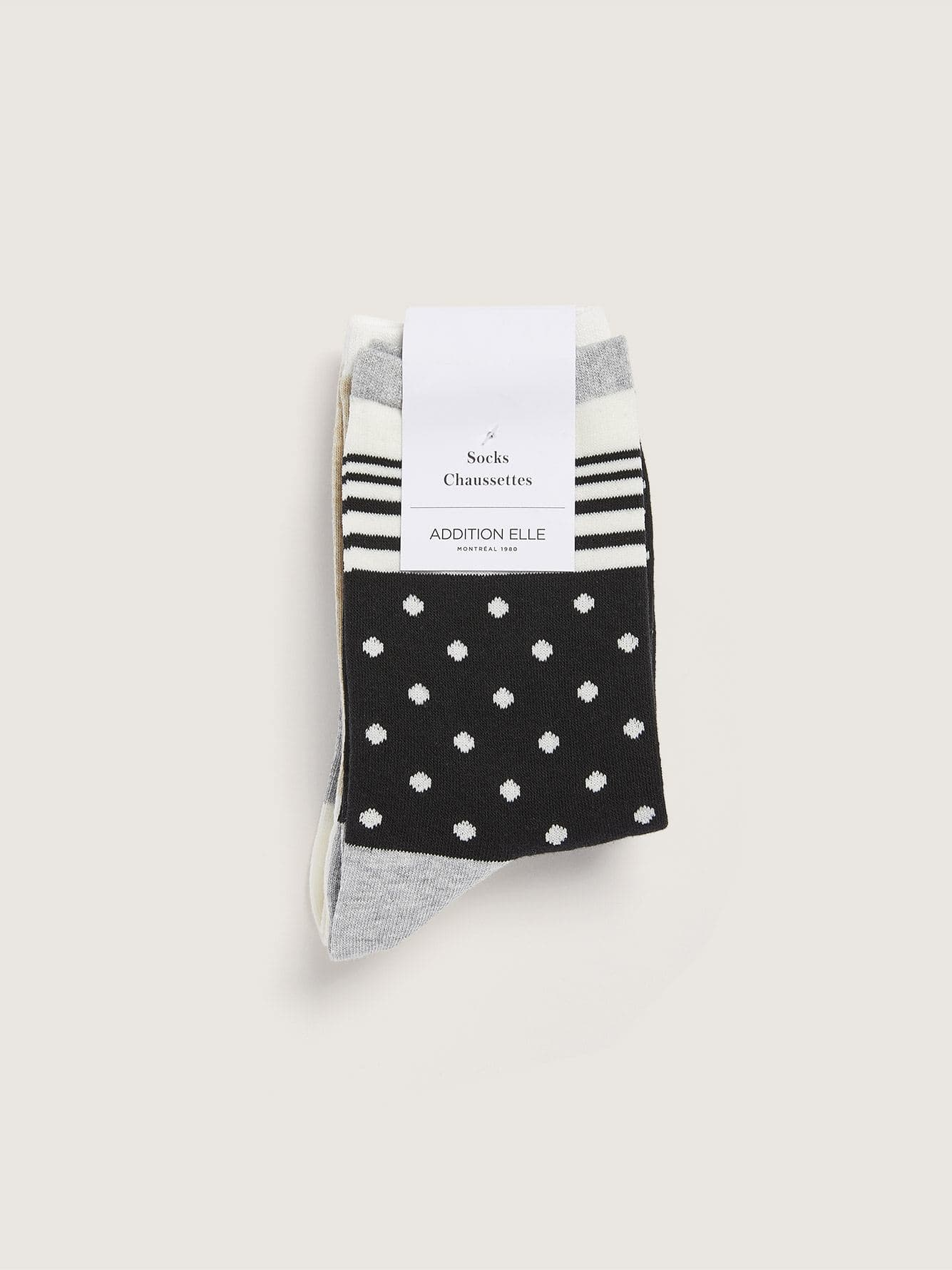 3 Pairs of Printed Cotton Socks