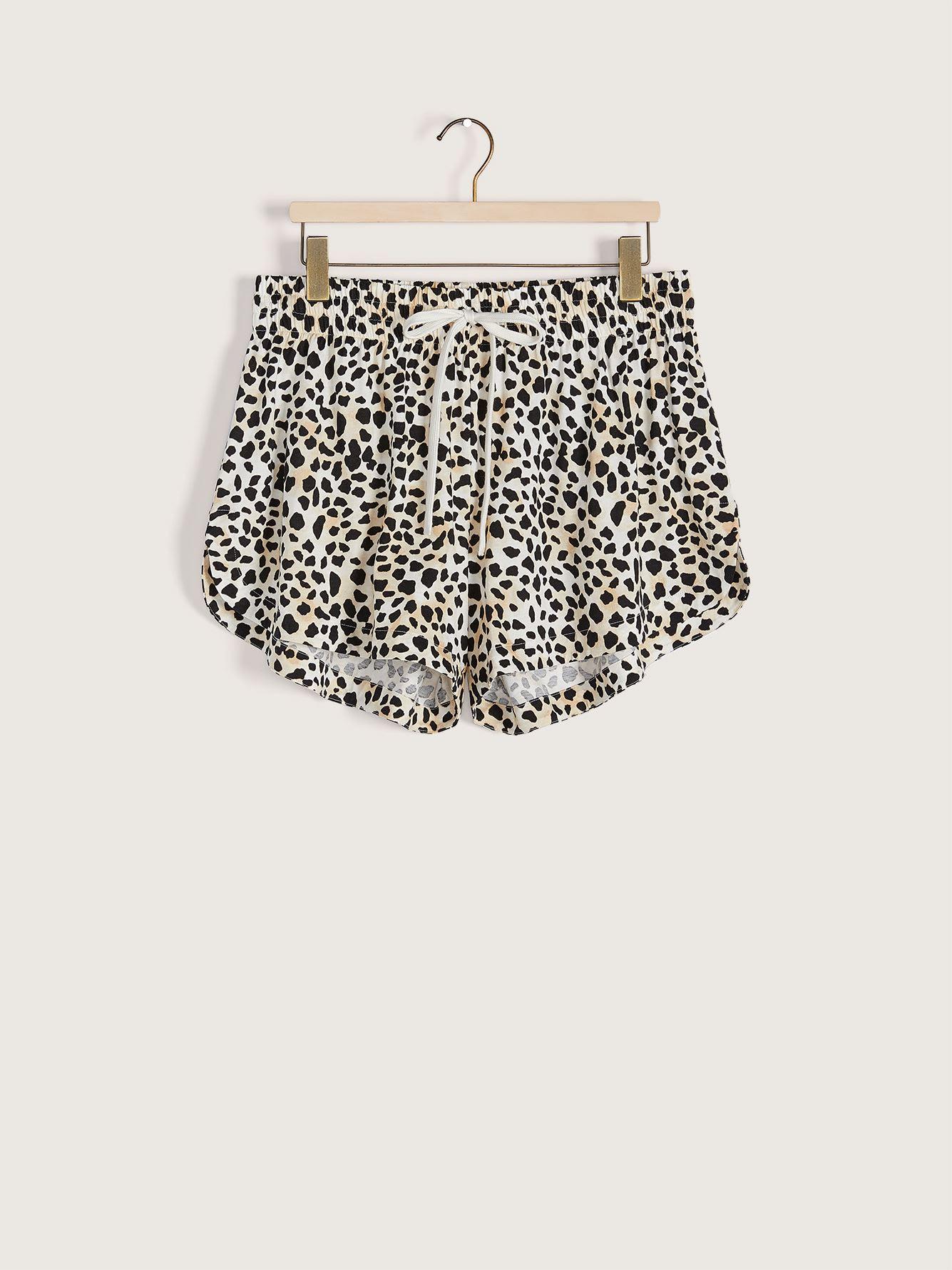 Animal Print Tie-Front Pajama Short - Addition Elle