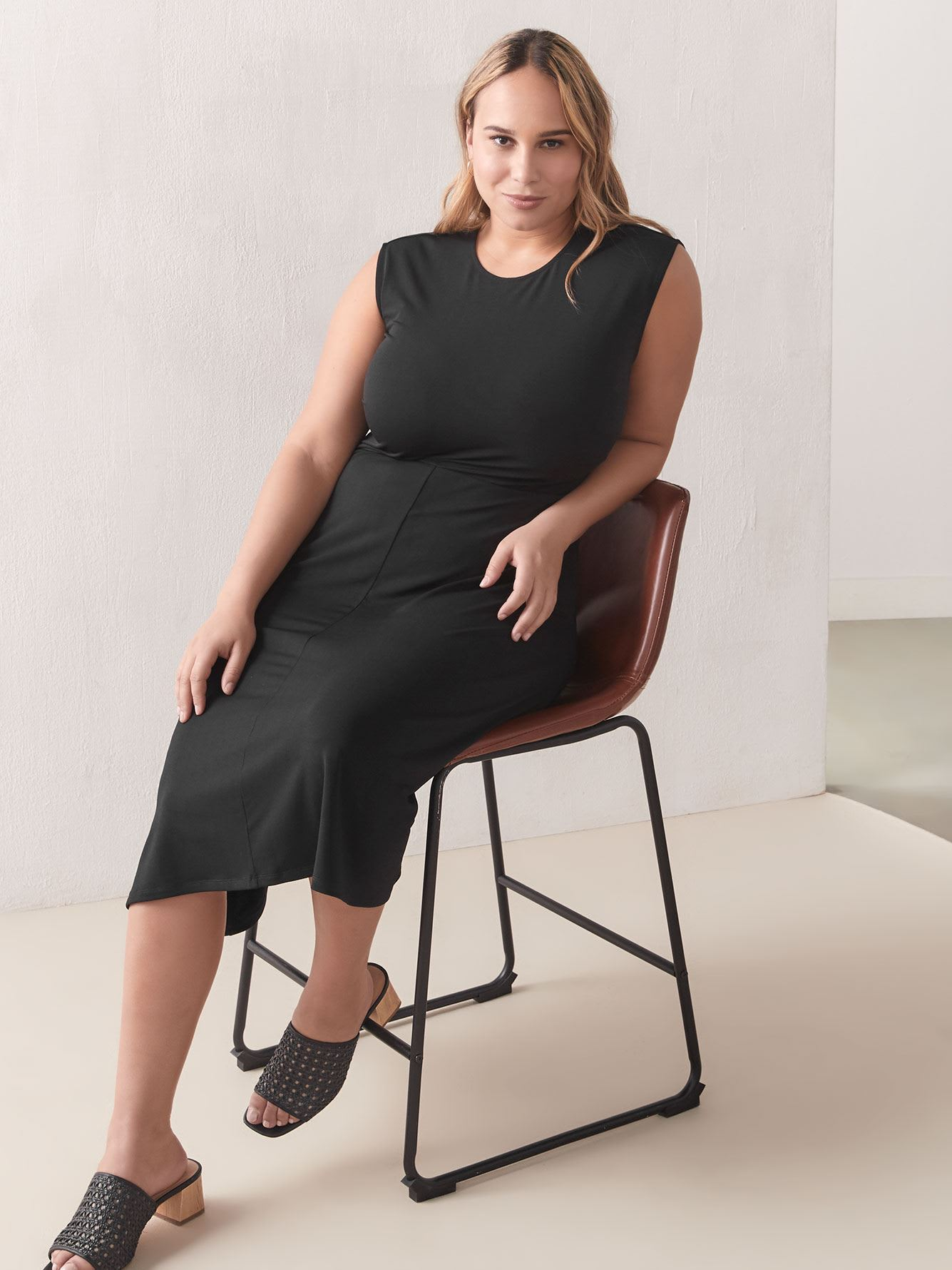 Fit and Flare Midi Dress - Addition Elle