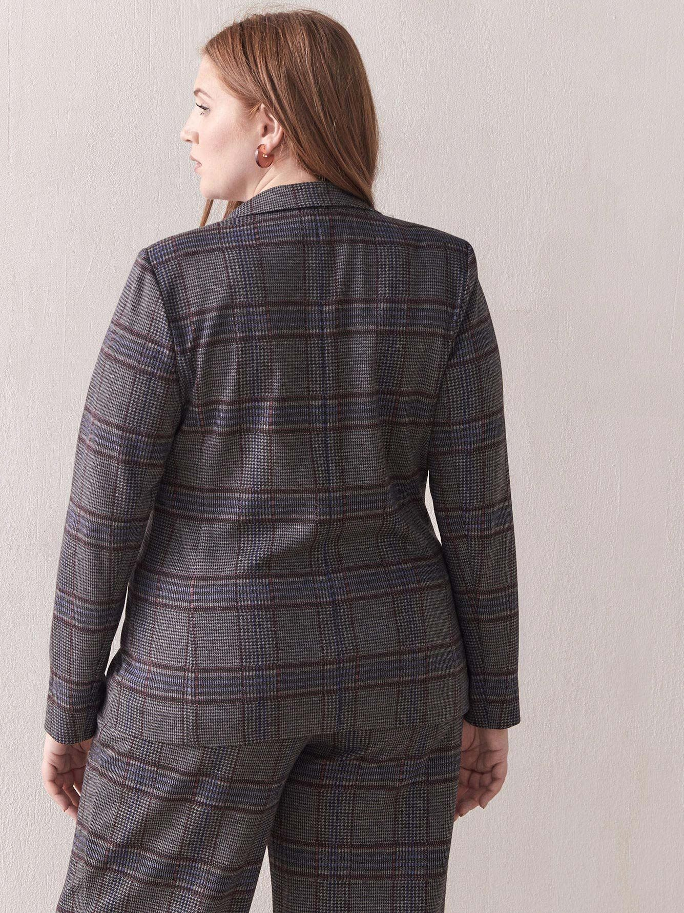 Unlined Prince of Wales Blazer - Addition Elle