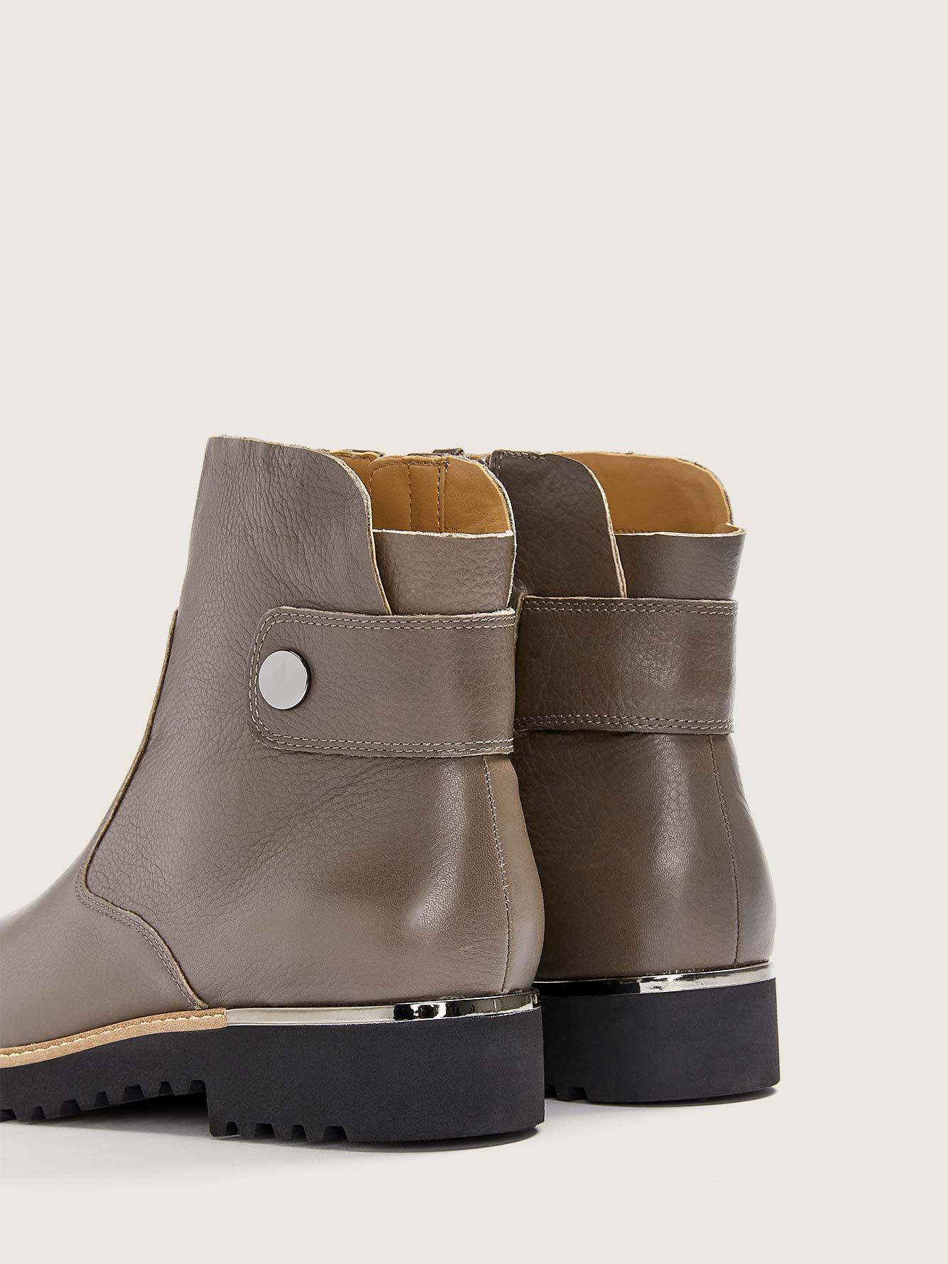 Wide Width Leather Ankle Booties - Franco Sarto