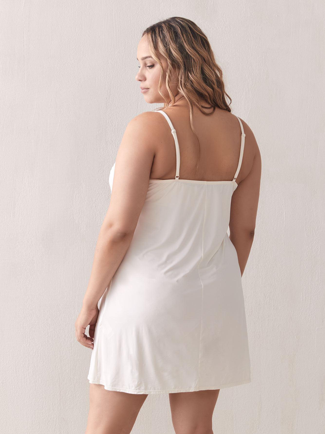 Slip Dress with Lace Trim - Addition Elle