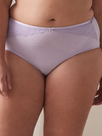 Brief Panty with Lace Trim