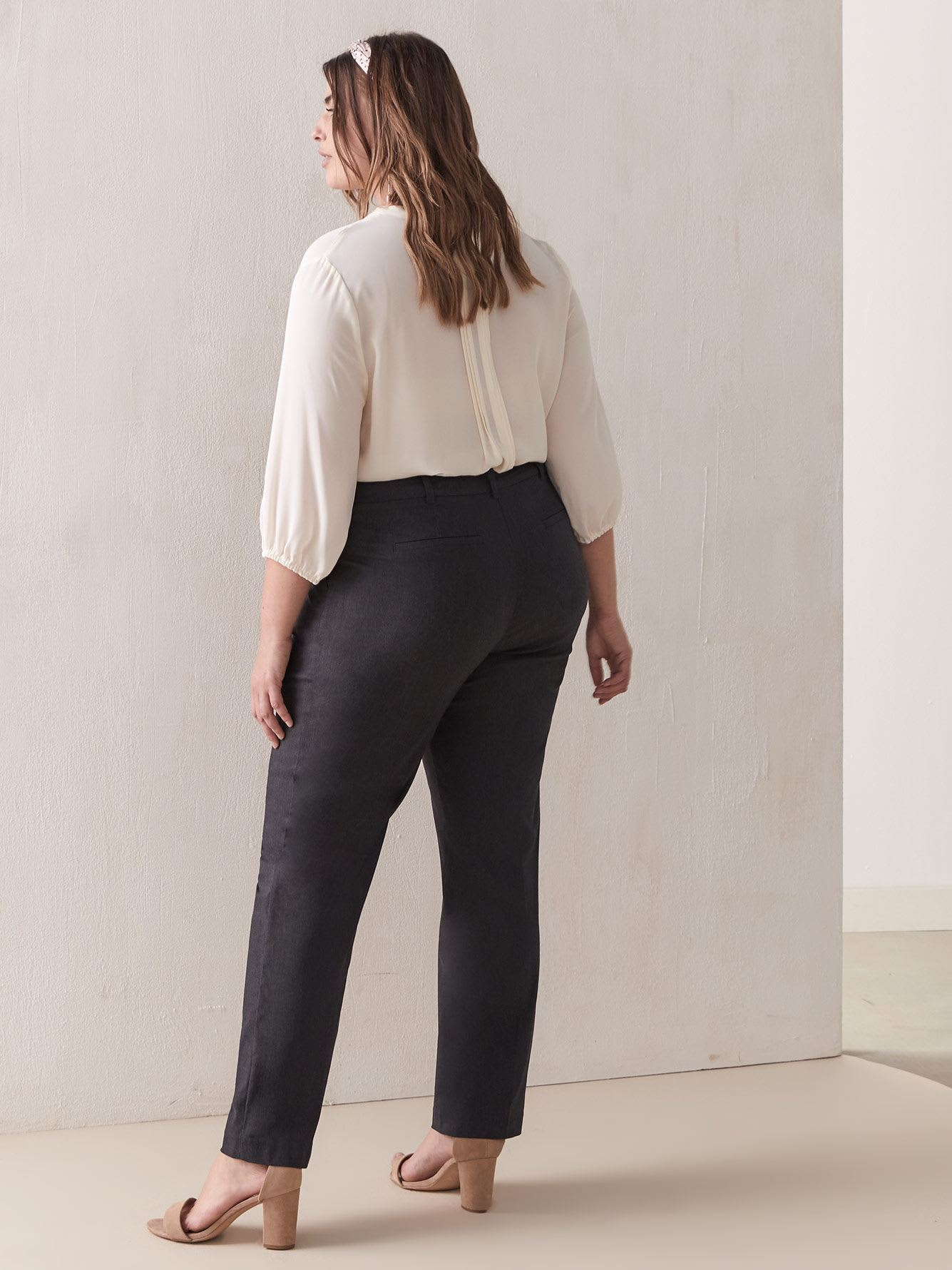 Petite, Straight-Leg Ankle Pant - Addition Elle
