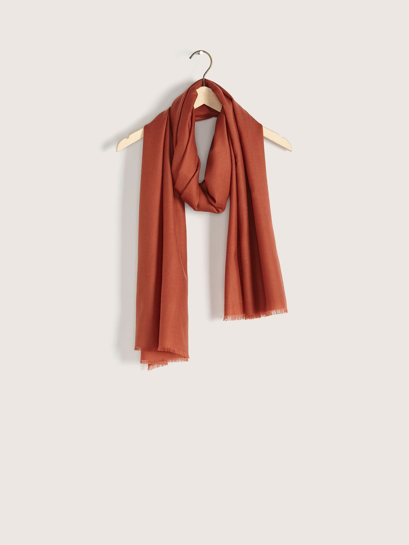 Frayed Edge Wool Scarf - Addition Elle
