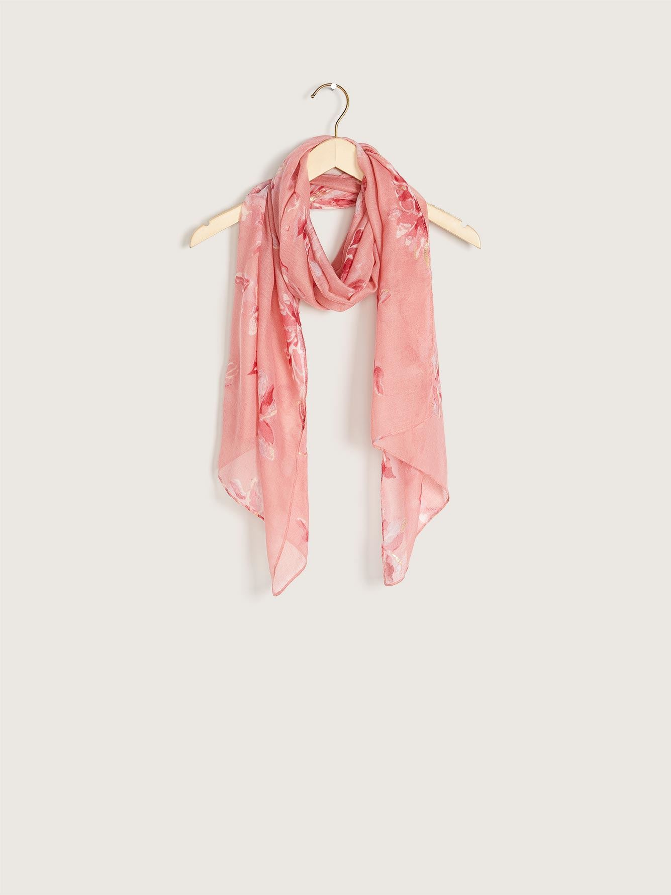 Floral Print Light Scarf - Addition Elle
