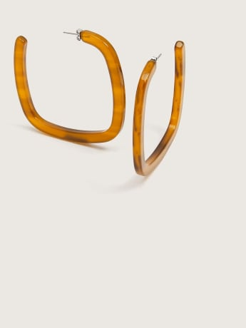 Large Square Hoops Earrings - Machete
