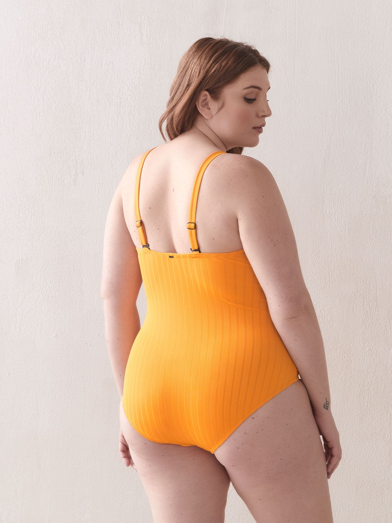 One-Piece Swimsuit with Ruffle Detail - Everyday Sunday